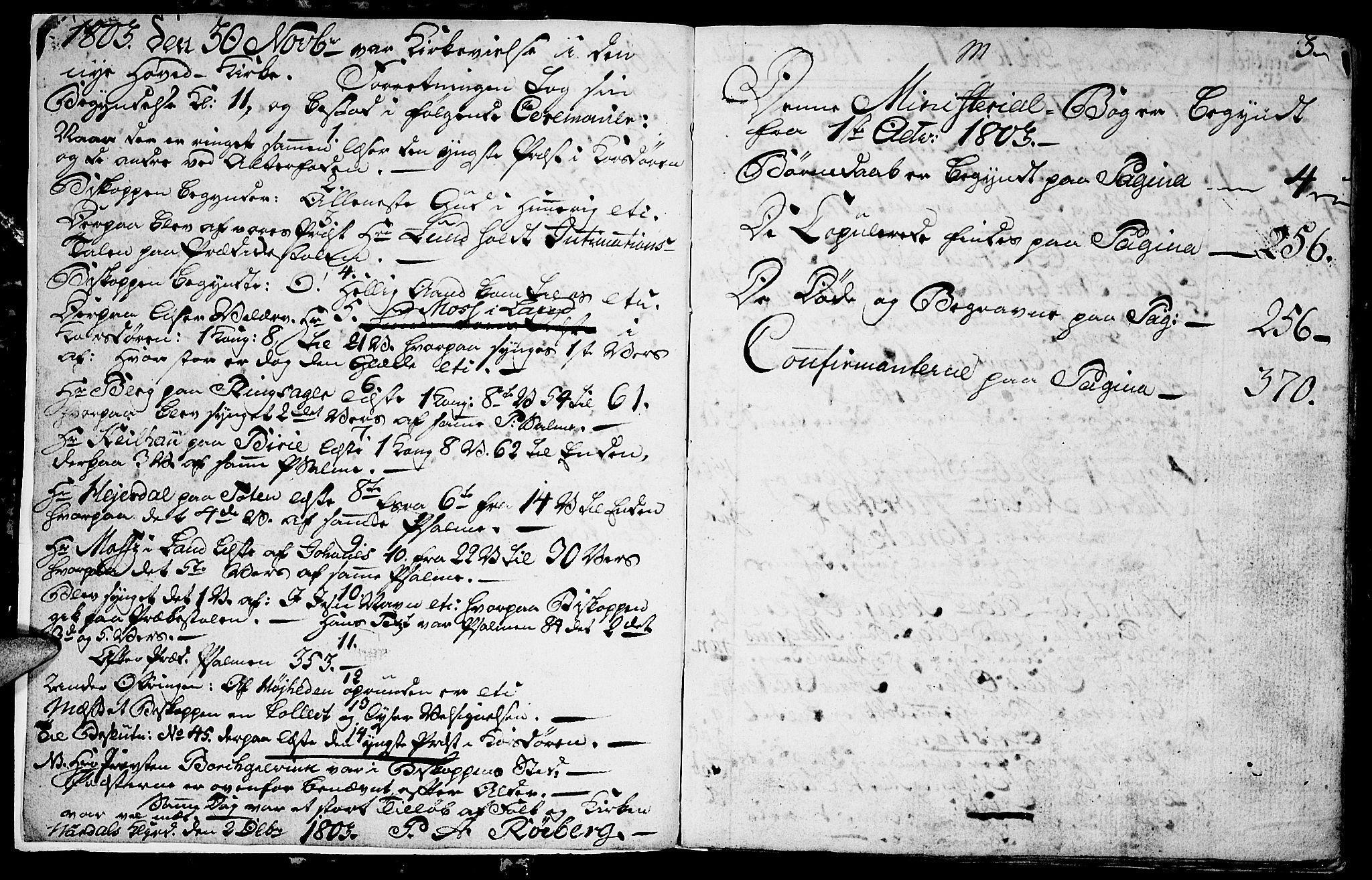 SAH, Vardal prestekontor, H/Ha/Hab/L0003: Klokkerbok nr. 3, 1803-1808, s. 2-3