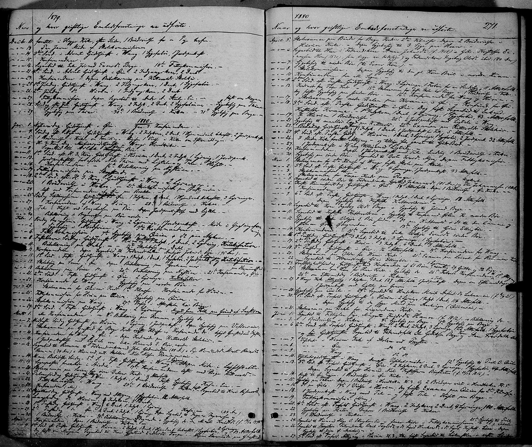 SAH, Vang prestekontor, Valdres, Ministerialbok nr. 7, 1865-1881, s. 271