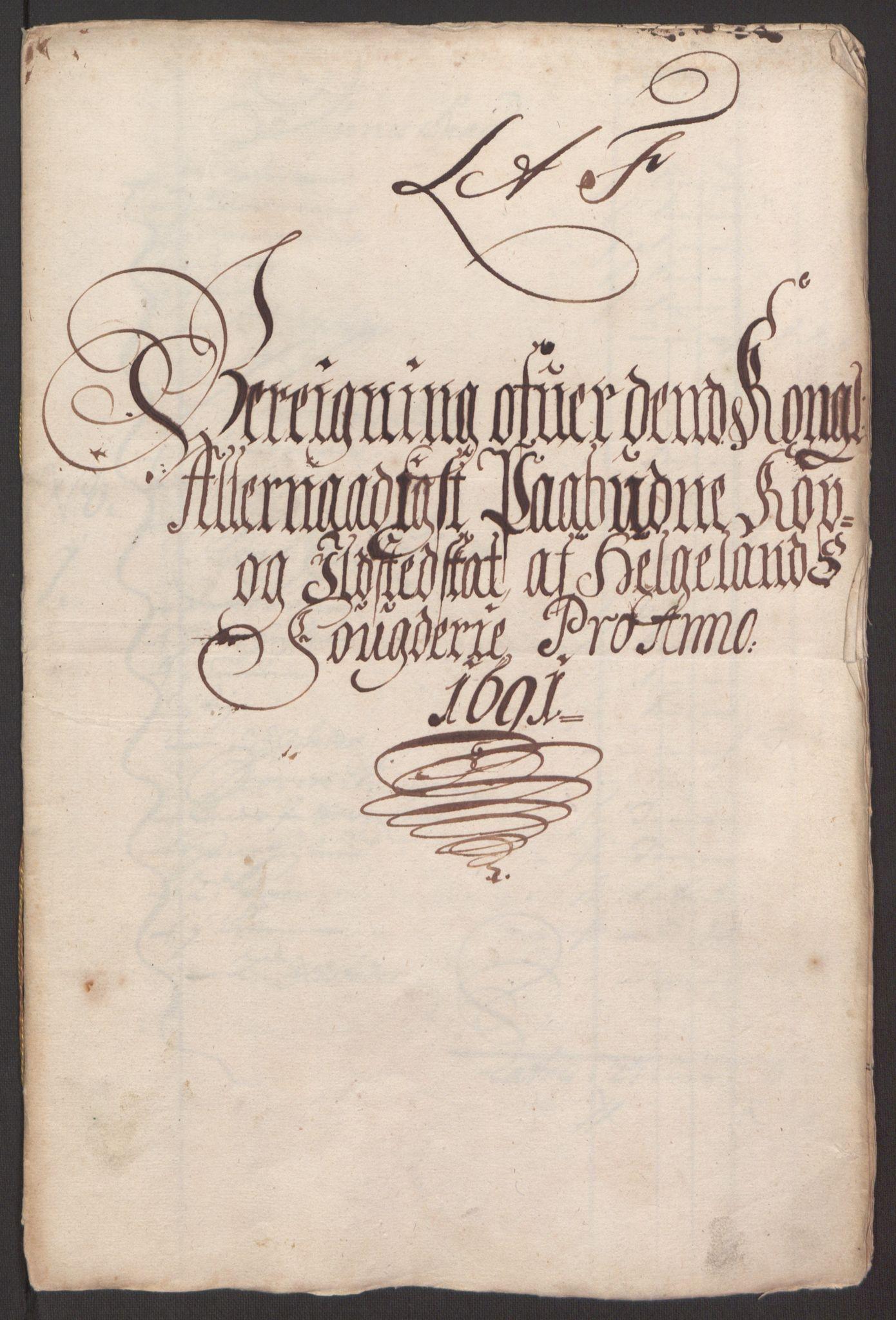 RA, Rentekammeret inntil 1814, Reviderte regnskaper, Fogderegnskap, R65/L4504: Fogderegnskap Helgeland, 1691-1692, s. 124