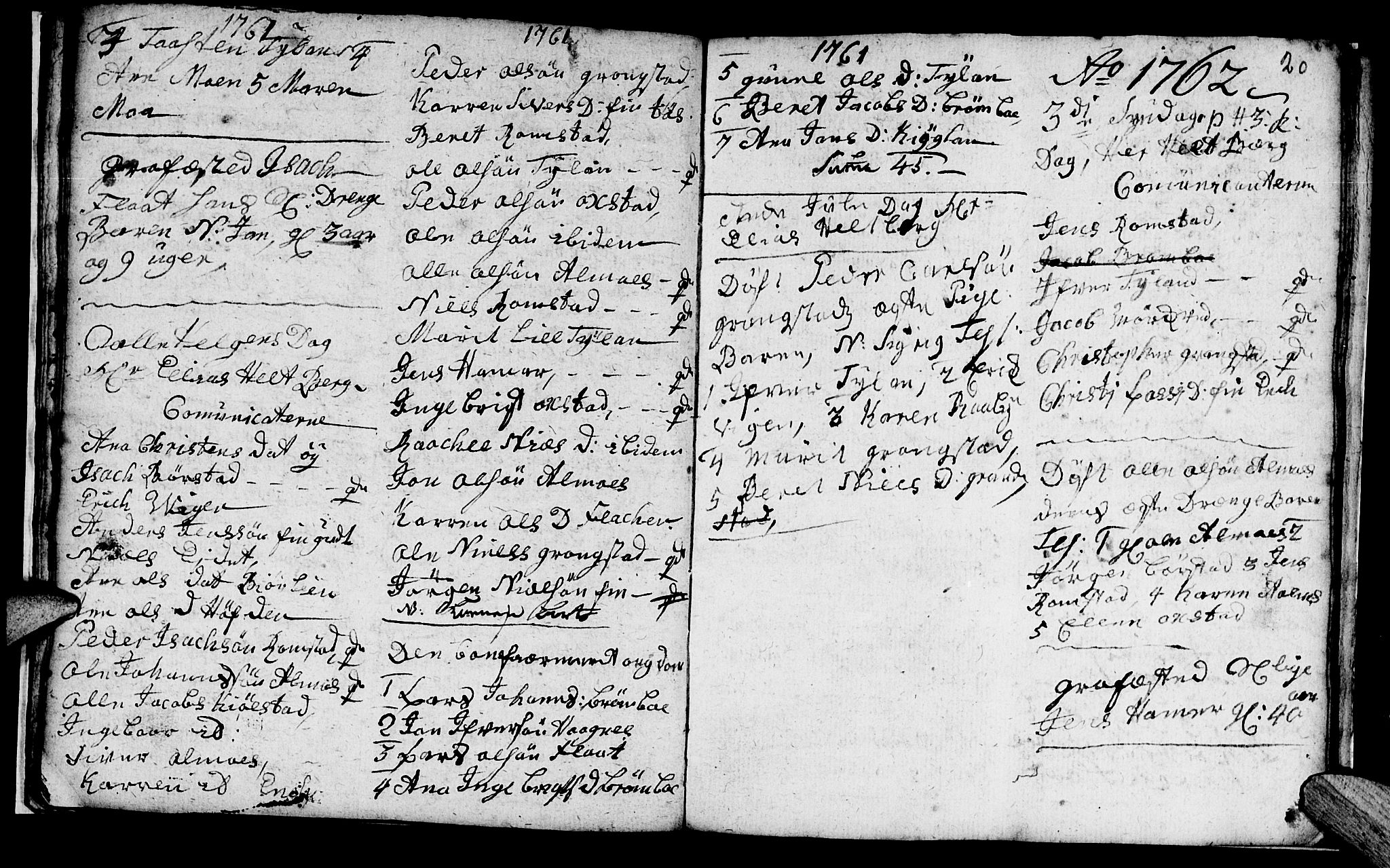 SAT, Ministerialprotokoller, klokkerbøker og fødselsregistre - Nord-Trøndelag, 765/L0561: Ministerialbok nr. 765A02, 1758-1765, s. 20