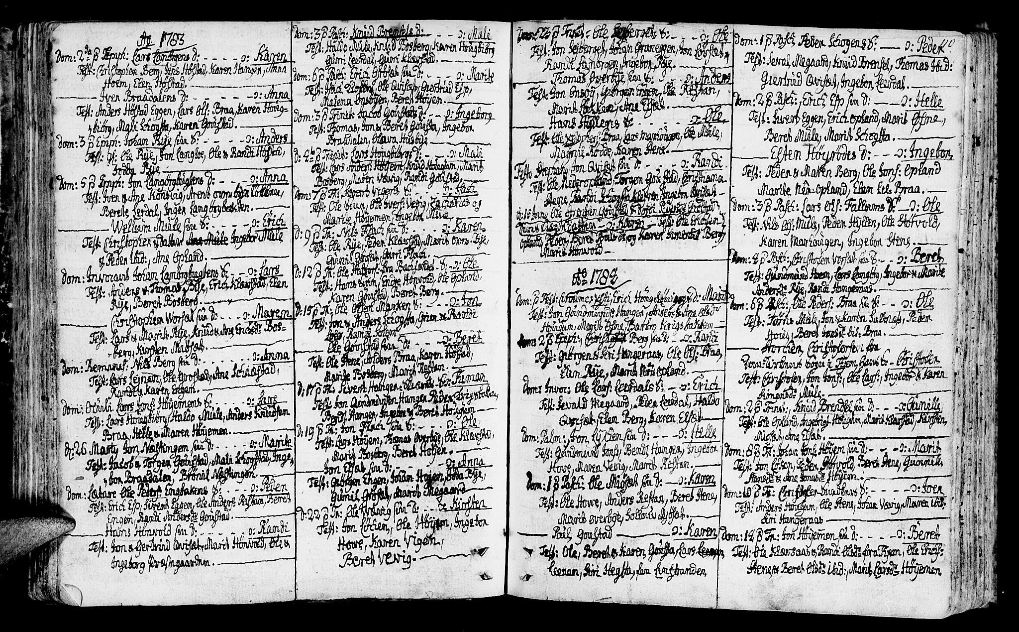 SAT, Ministerialprotokoller, klokkerbøker og fødselsregistre - Sør-Trøndelag, 612/L0370: Ministerialbok nr. 612A04, 1754-1802, s. 110