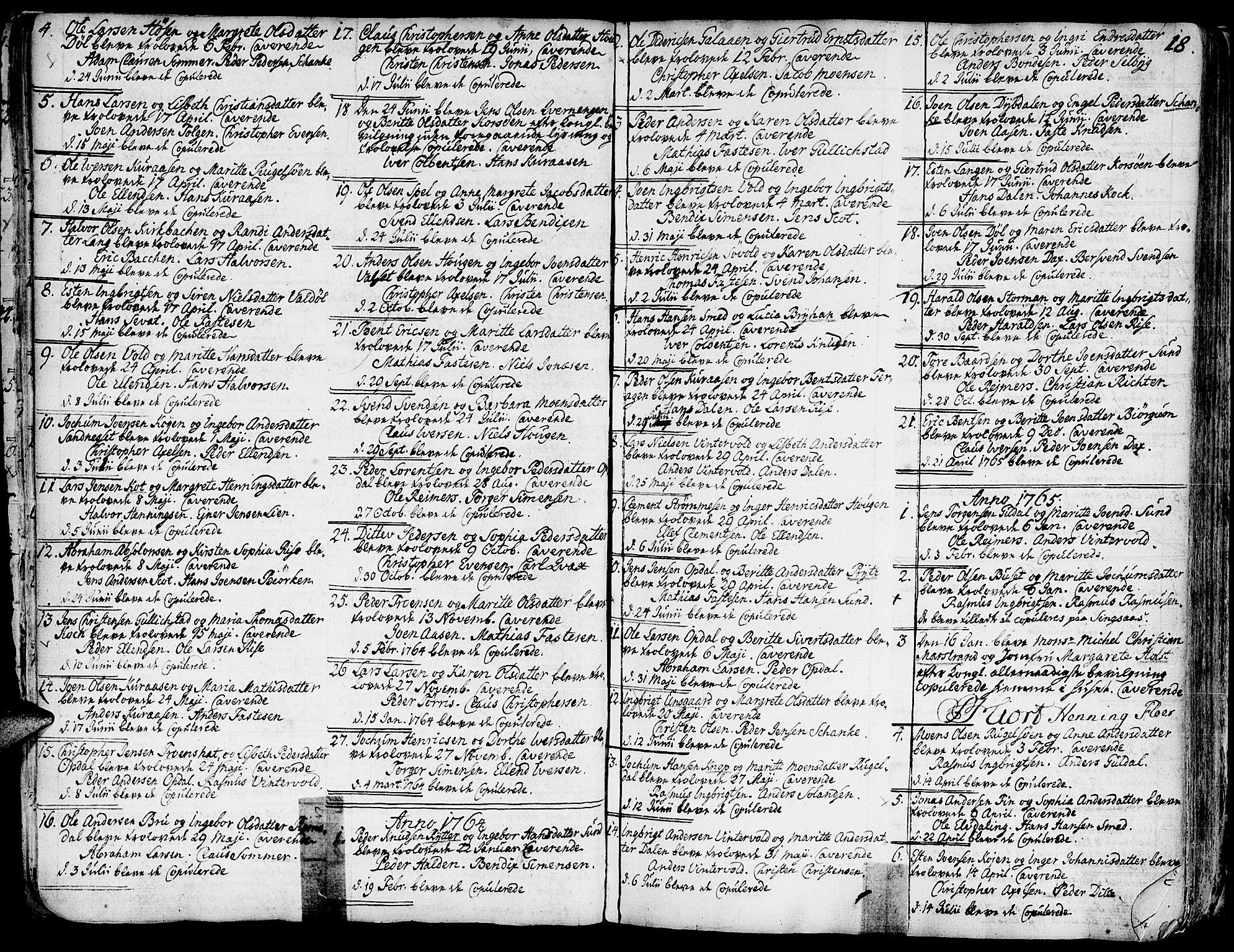 SAT, Ministerialprotokoller, klokkerbøker og fødselsregistre - Sør-Trøndelag, 681/L0925: Ministerialbok nr. 681A03, 1727-1766, s. 18
