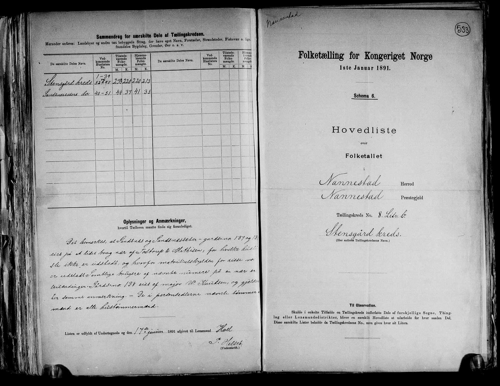 RA, Folketelling 1891 for 0238 Nannestad herred, 1891, s. 27
