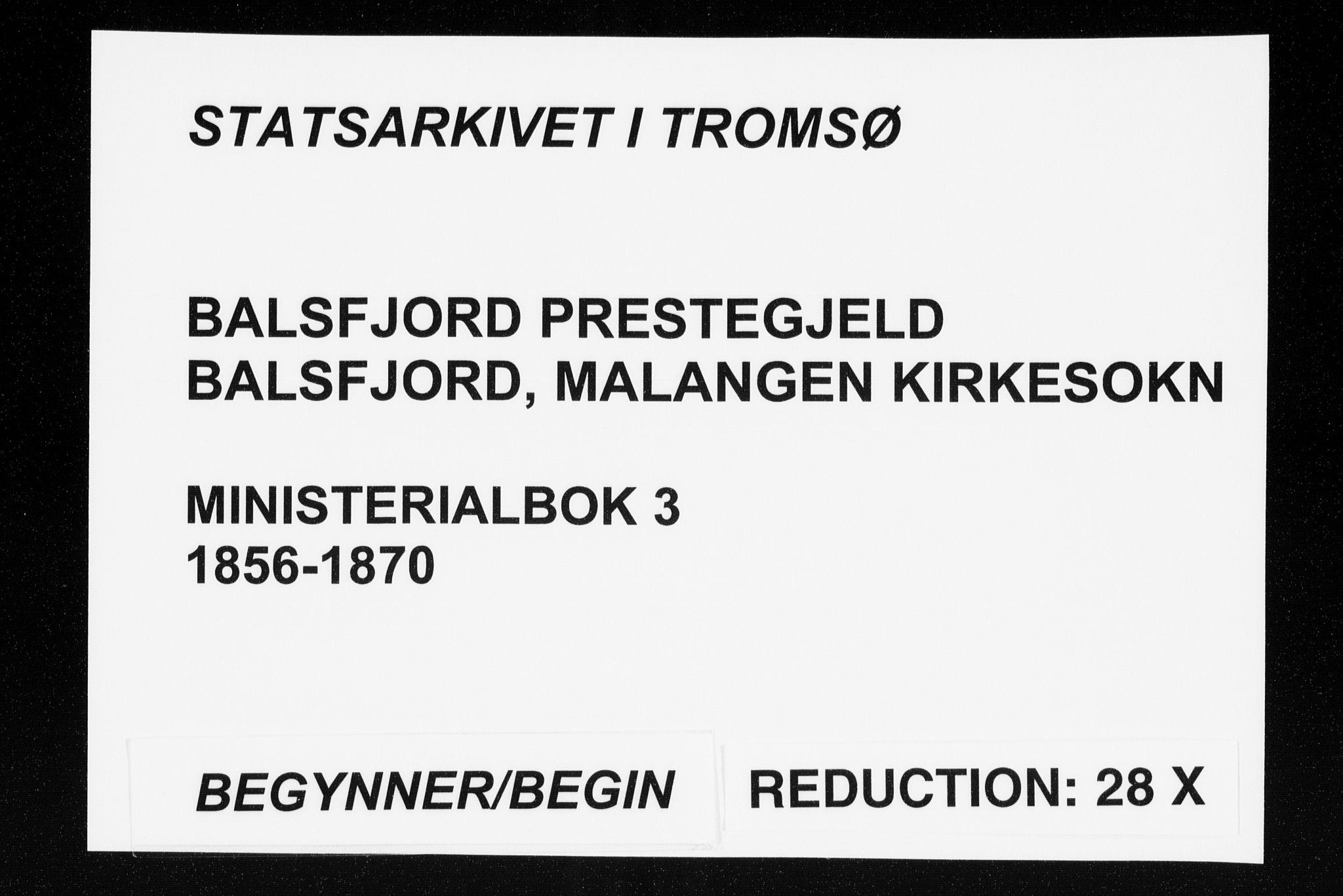 SATØ, Balsfjord sokneprestembete, Ministerialbok nr. 3, 1856-1870