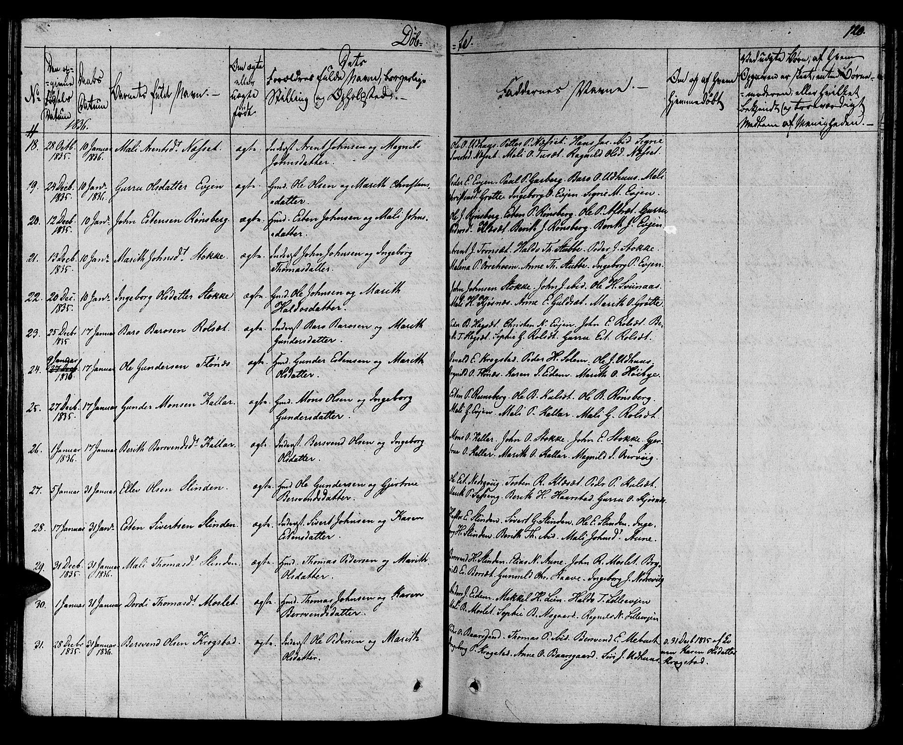SAT, Ministerialprotokoller, klokkerbøker og fødselsregistre - Sør-Trøndelag, 695/L1143: Ministerialbok nr. 695A05 /1, 1824-1842, s. 120