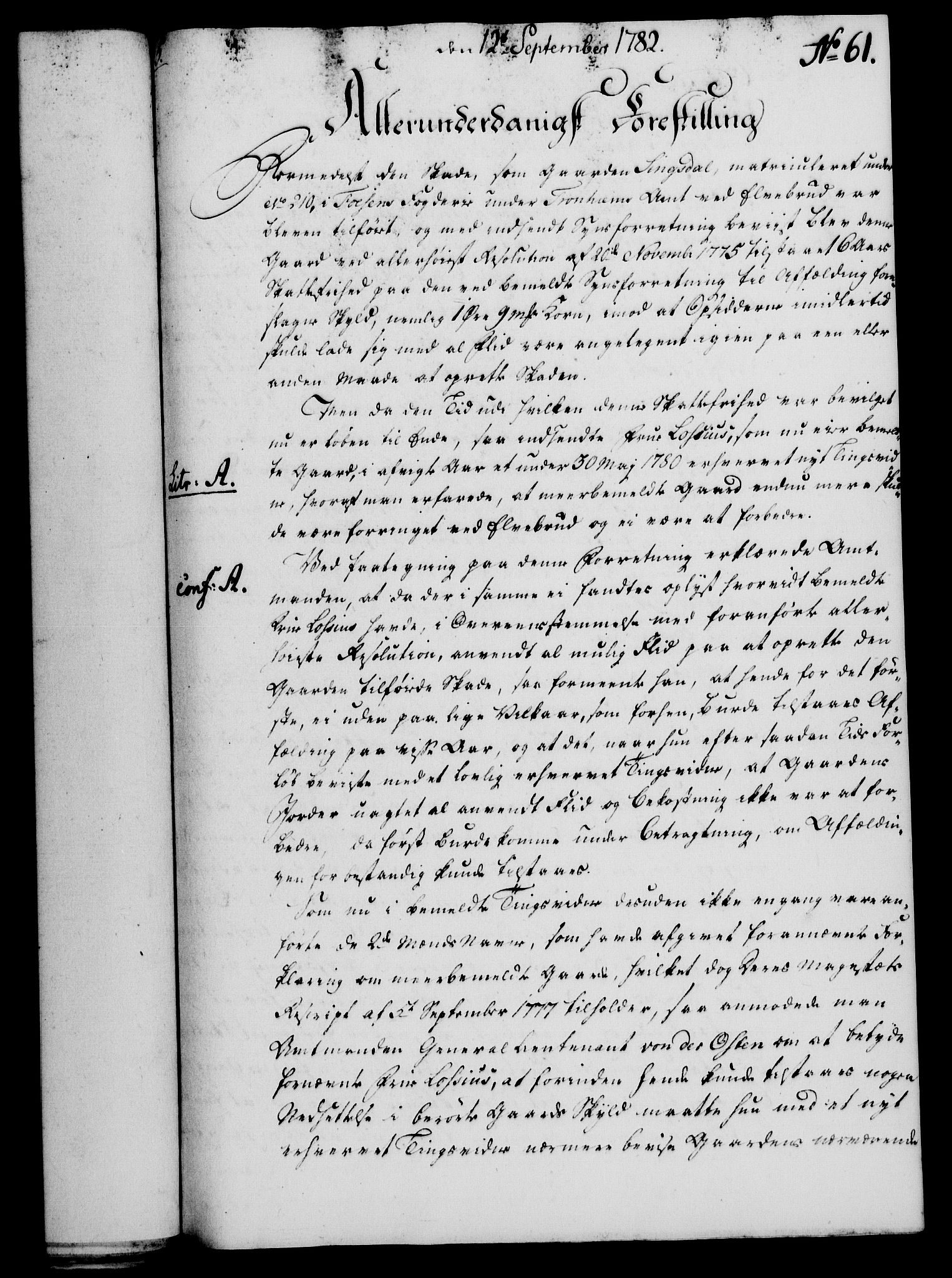 RA, Rentekammeret, Kammerkanselliet, G/Gf/Gfa/L0064: Norsk relasjons- og resolusjonsprotokoll (merket RK 52.64), 1782, s. 466