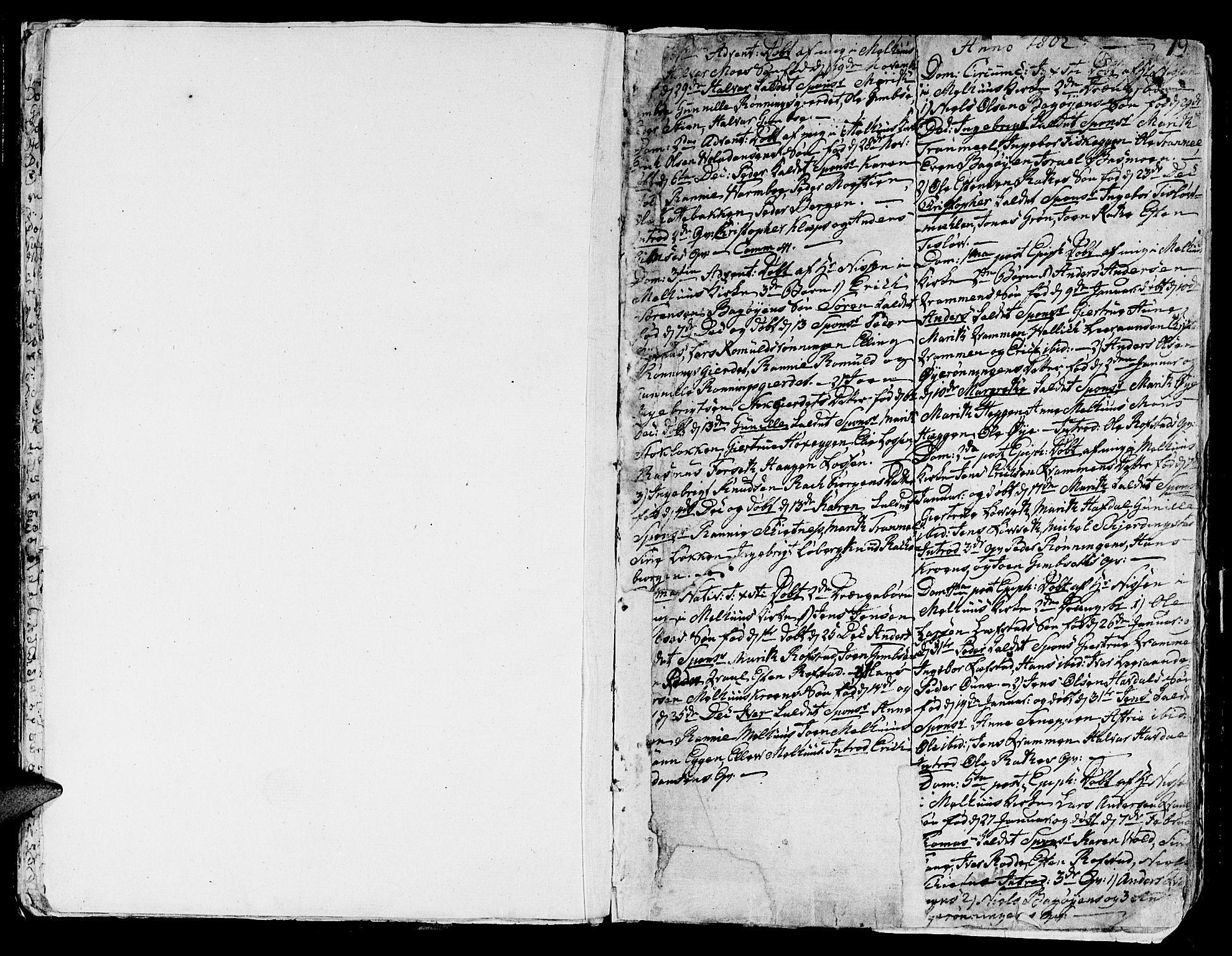 SAT, Ministerialprotokoller, klokkerbøker og fødselsregistre - Sør-Trøndelag, 691/L1061: Ministerialbok nr. 691A02 /1, 1768-1815, s. 19