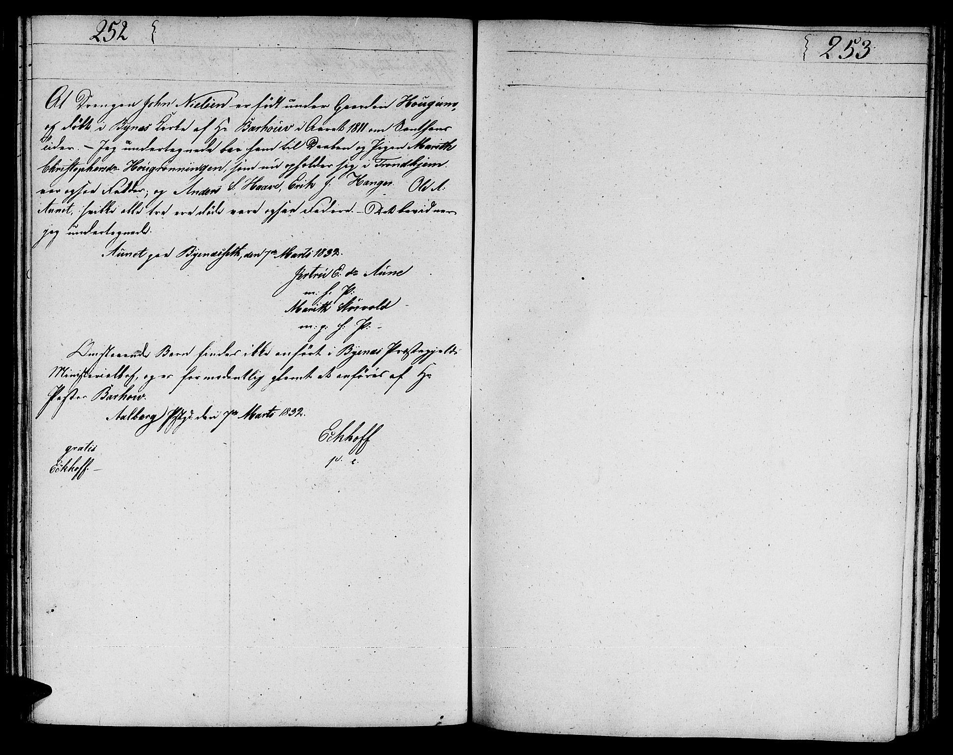 SAT, Ministerialprotokoller, klokkerbøker og fødselsregistre - Sør-Trøndelag, 606/L0306: Klokkerbok nr. 606C02, 1797-1829, s. 252-253