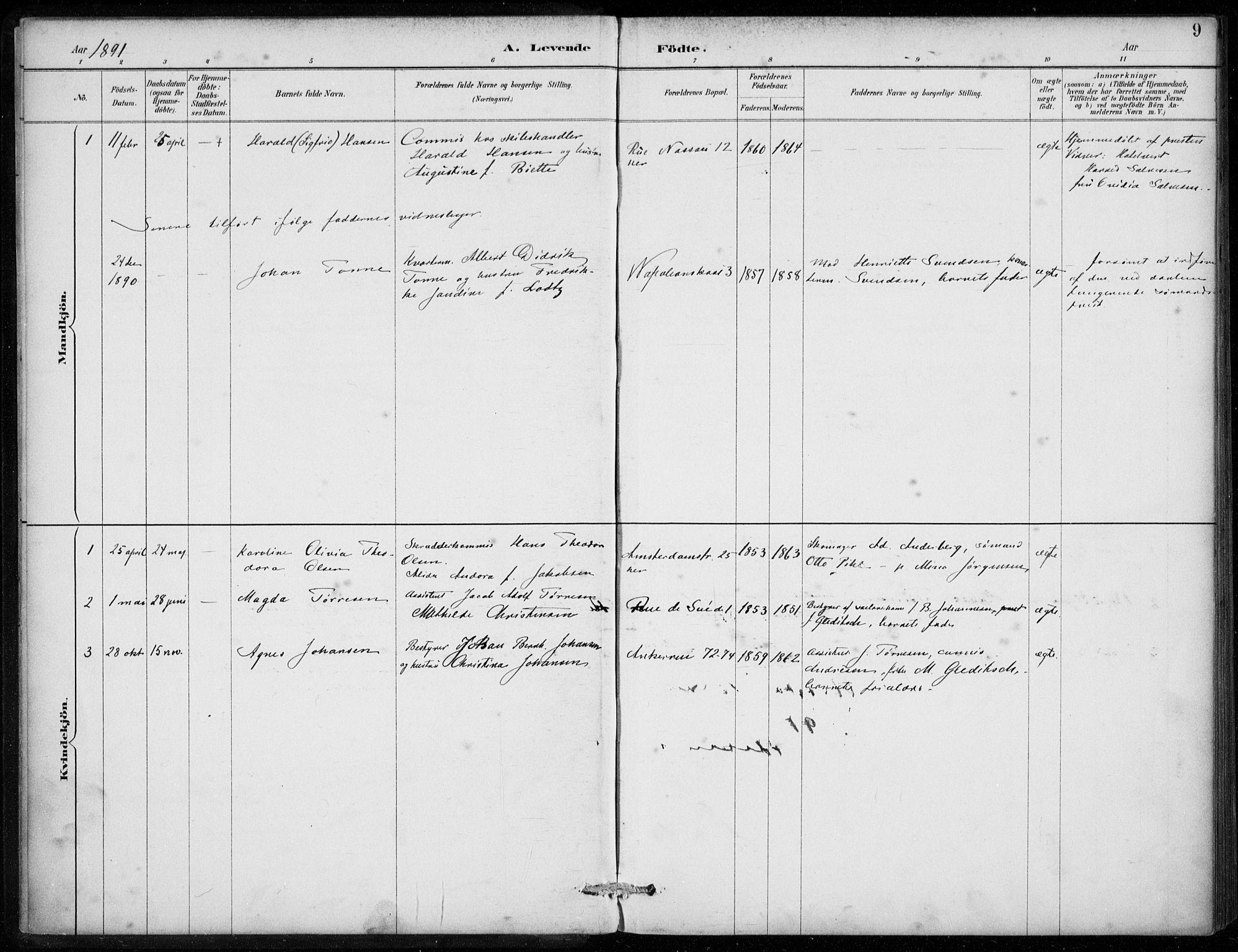 SAB, Den Norske Sjømannsmisjon i utlandet*, Ministerialbok nr. A 2, 1887-1913, s. 9