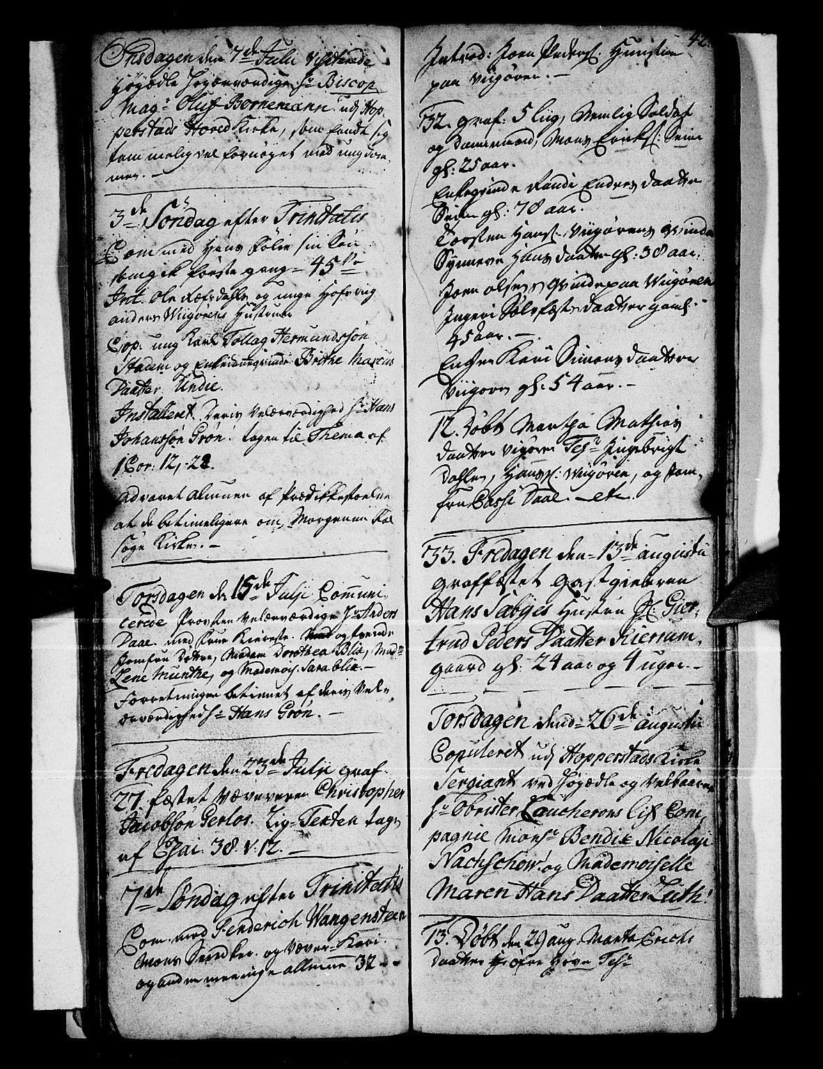 SAB, Vik Sokneprestembete, Ministerialbok nr. A 1 /1, 1727-1740, s. 42