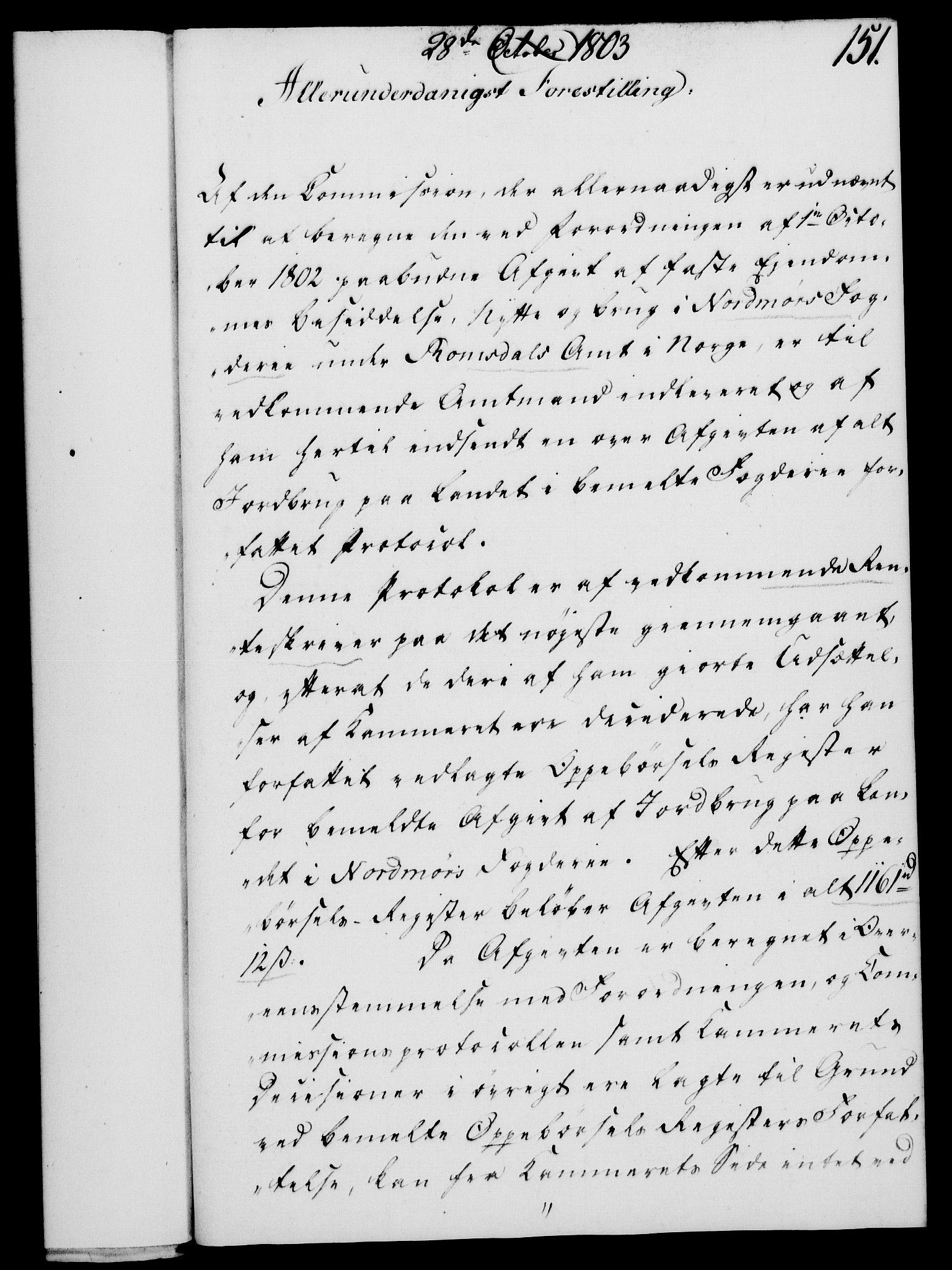 RA, Rentekammeret, Kammerkanselliet, G/Gf/Gfa/L0085: Norsk relasjons- og resolusjonsprotokoll (merket RK 52.85), 1803, s. 863