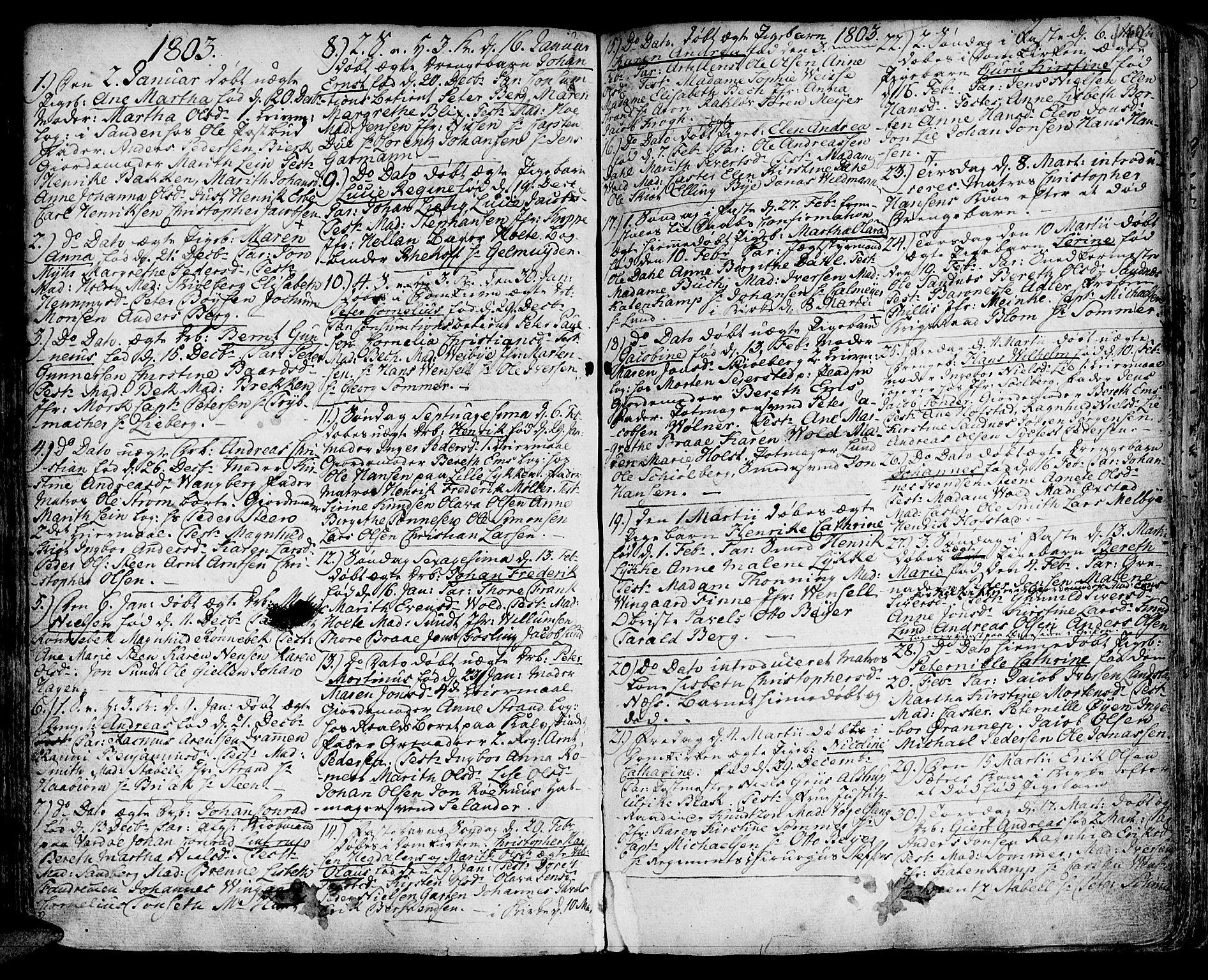 SAT, Ministerialprotokoller, klokkerbøker og fødselsregistre - Sør-Trøndelag, 601/L0039: Ministerialbok nr. 601A07, 1770-1819, s. 148