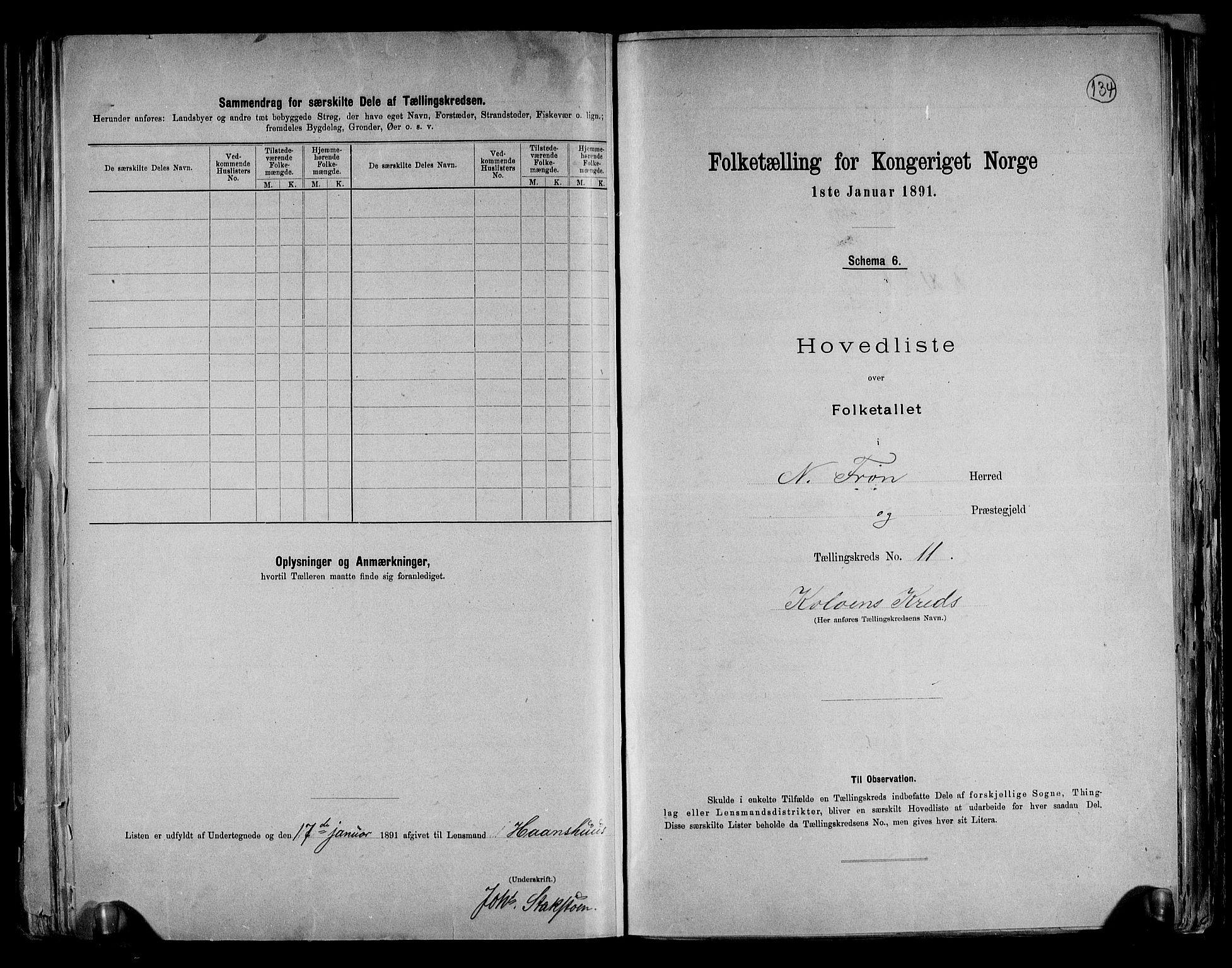 RA, Folketelling 1891 for 0518 Nord-Fron herred, 1891, s. 29