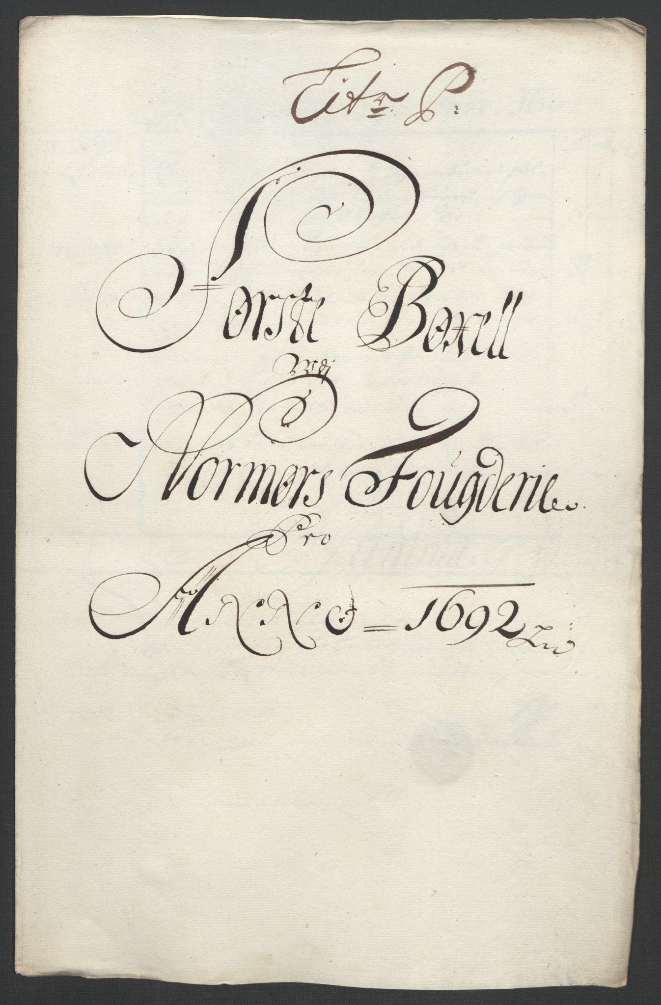RA, Rentekammeret inntil 1814, Reviderte regnskaper, Fogderegnskap, R56/L3735: Fogderegnskap Nordmøre, 1692-1693, s. 169