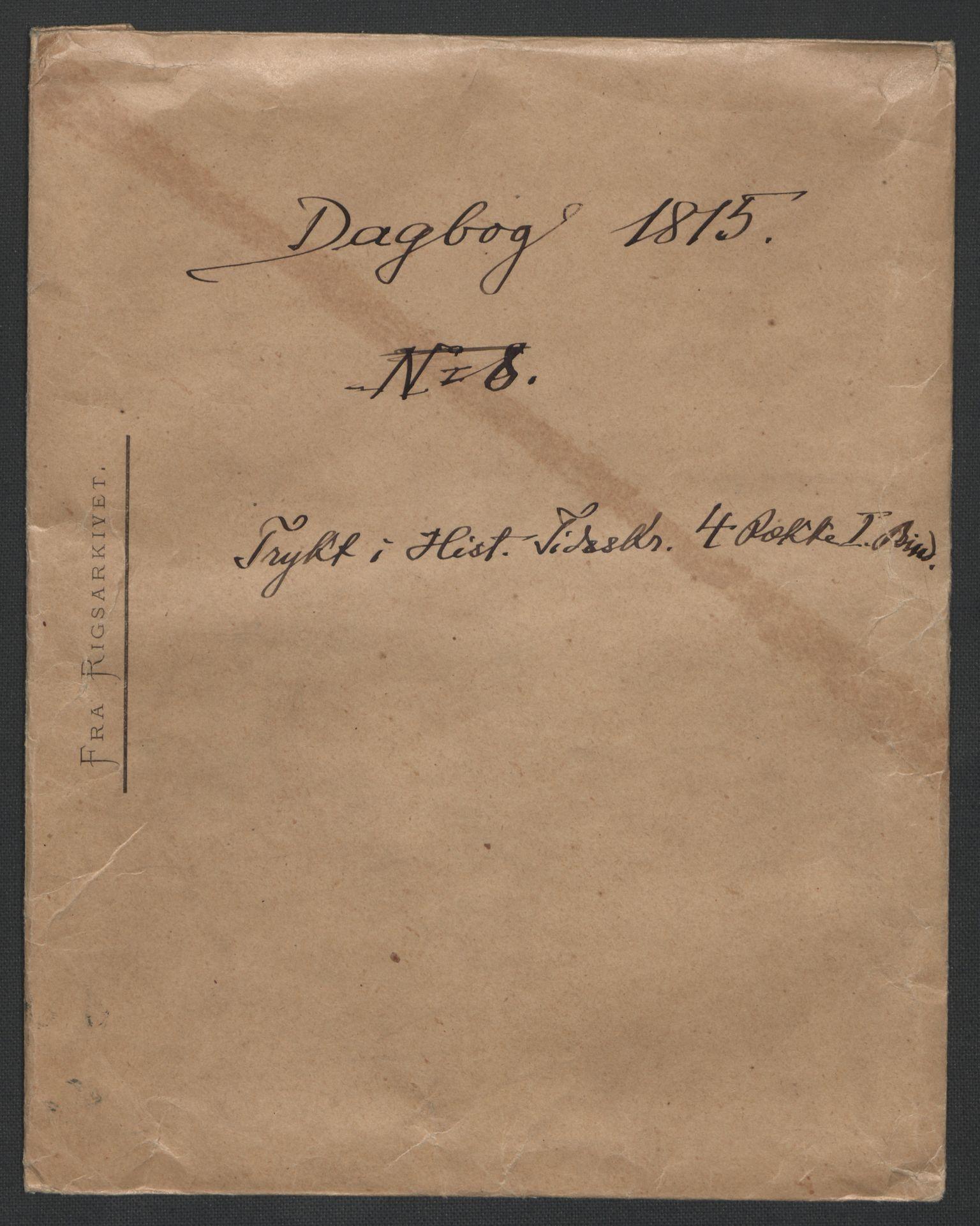 RA, Christie, Wilhelm Frimann Koren, F/L0005, 1815-1816, s. 3