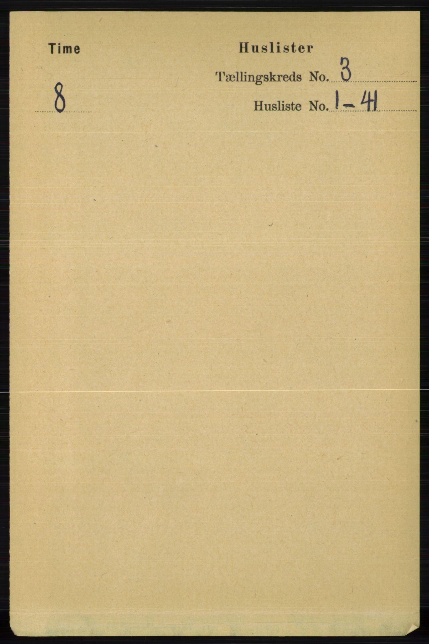 RA, Folketelling 1891 for 1121 Time herred, 1891, s. 994