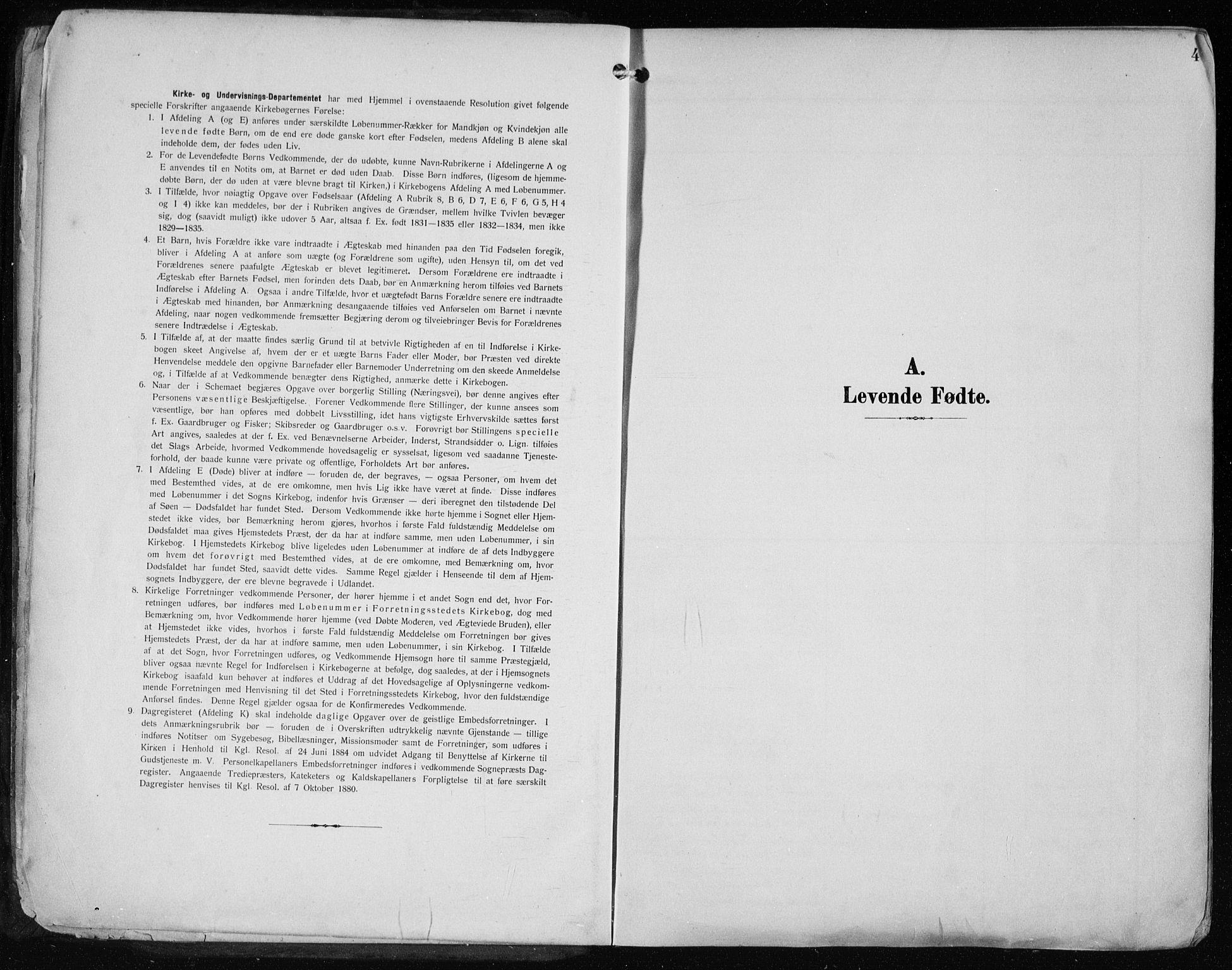 SAST, Haugesund sokneprestkontor, H/Ha/Haa/L0010: Ministerialbok nr. A 10, 1909-1935, s. 4