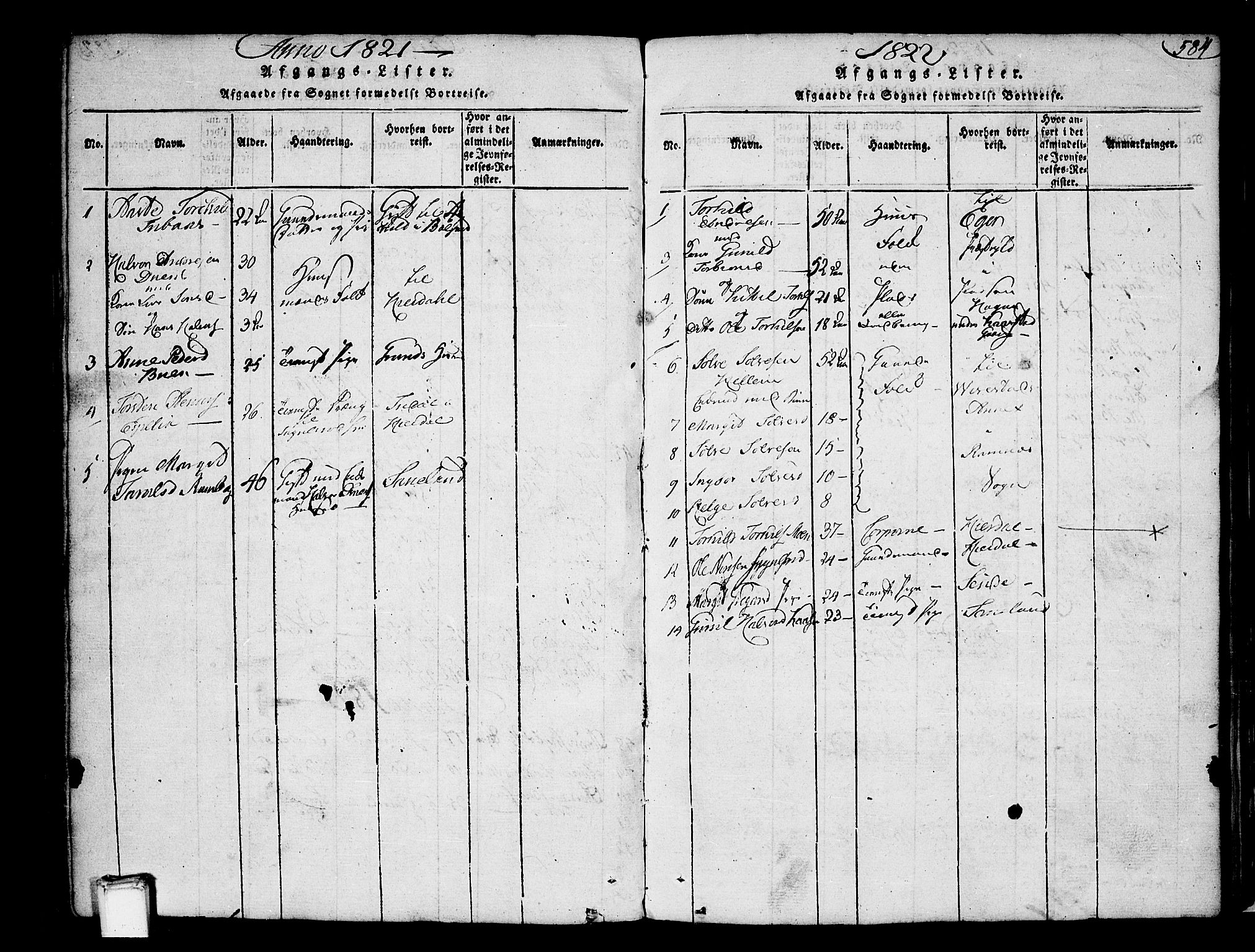 SAKO, Heddal kirkebøker, F/Fa/L0005: Ministerialbok nr. I 5, 1814-1837, s. 583-584