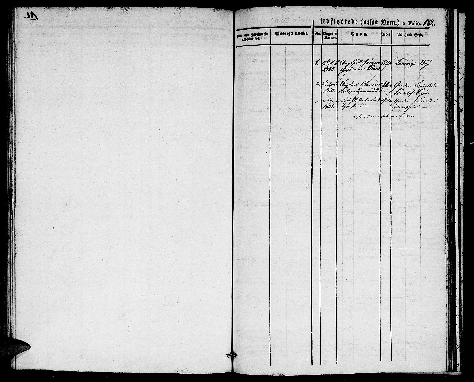 SAK, Gjerstad sokneprestkontor, F/Fa/Faa/L0005: Ministerialbok nr. A 5, 1829-1841, s. 182