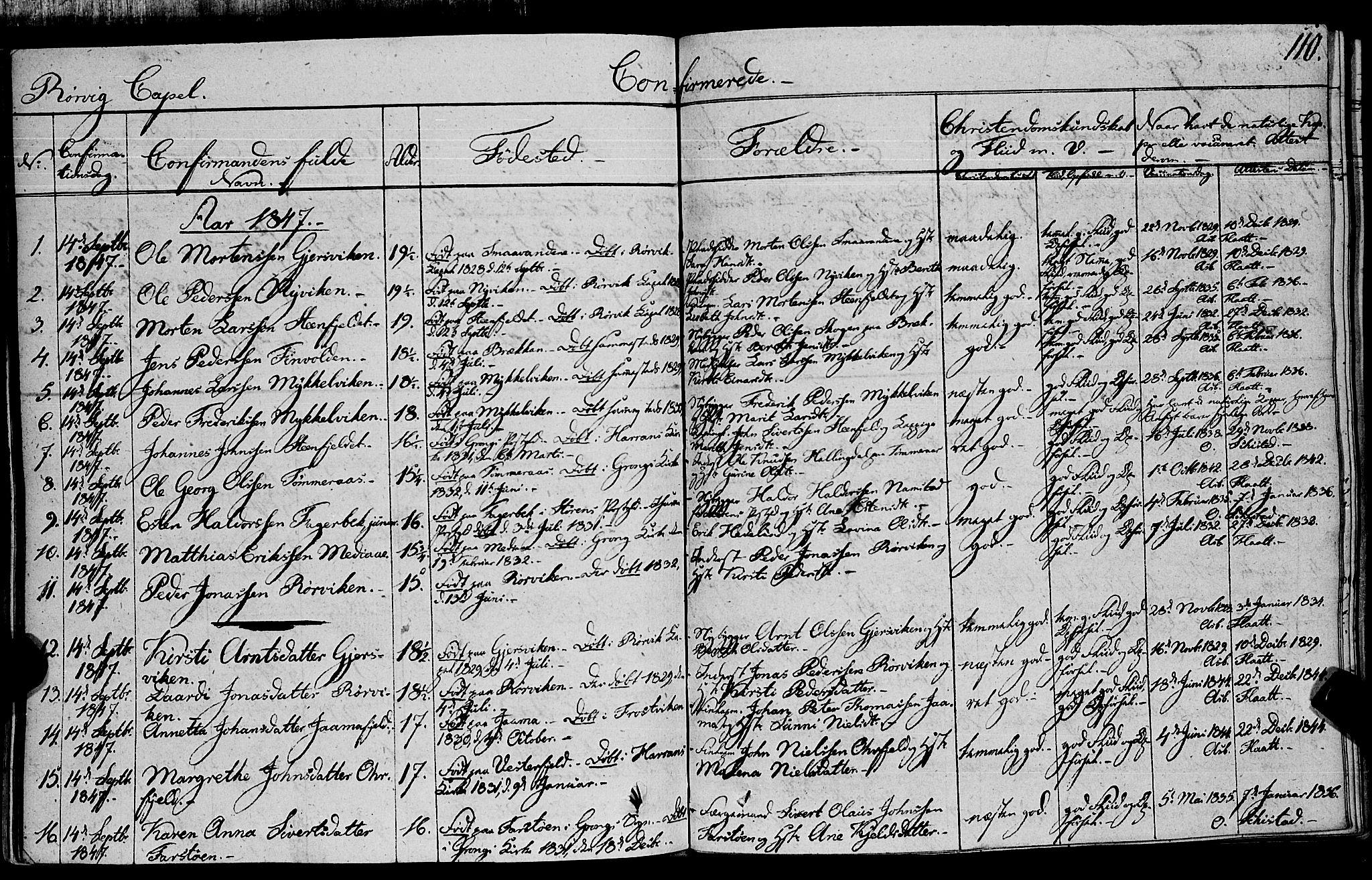 SAT, Ministerialprotokoller, klokkerbøker og fødselsregistre - Nord-Trøndelag, 762/L0538: Ministerialbok nr. 762A02 /1, 1833-1879, s. 110