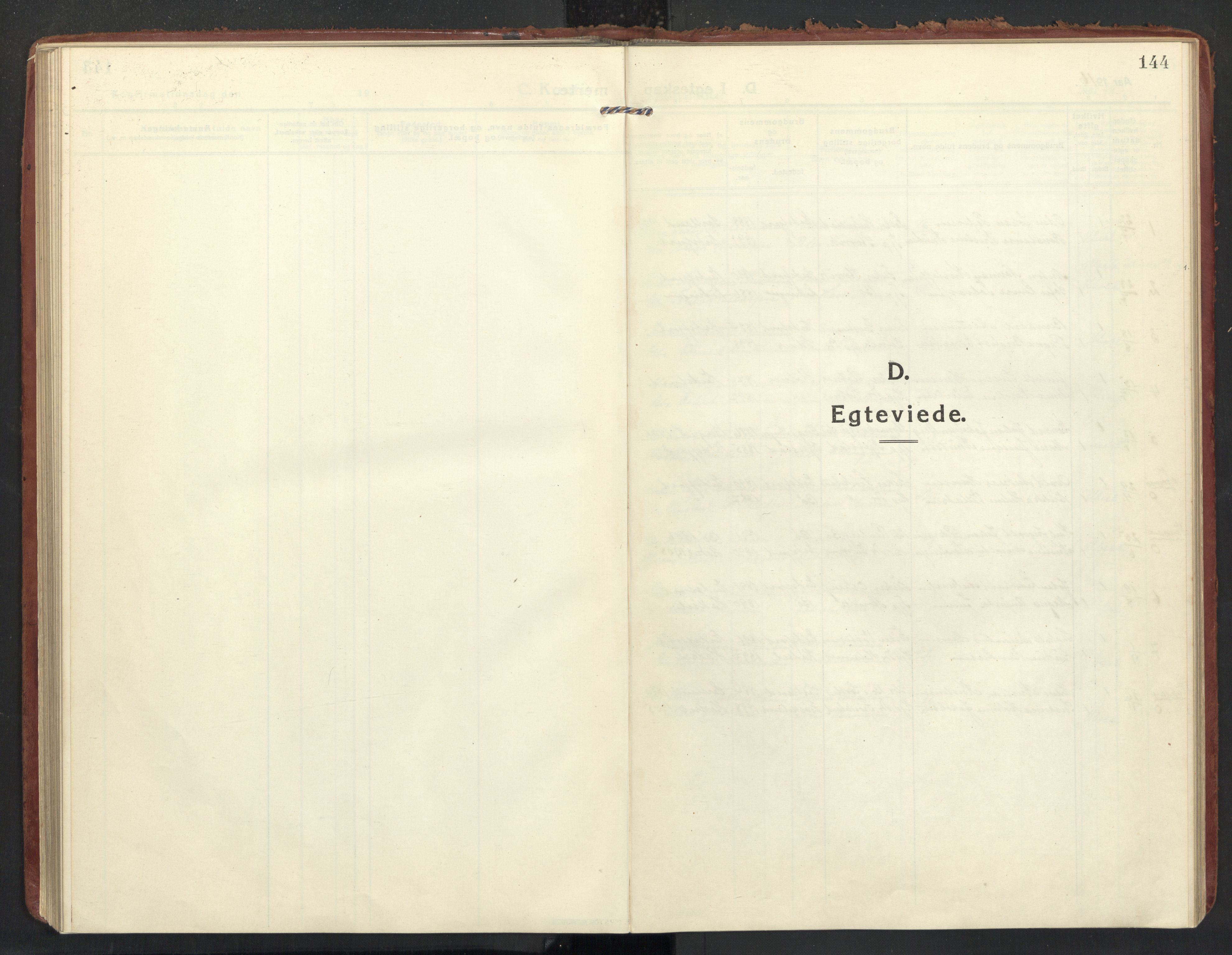 SAT, Ministerialprotokoller, klokkerbøker og fødselsregistre - Nordland, 890/L1288: Ministerialbok nr. 890A03, 1915-1925, s. 144