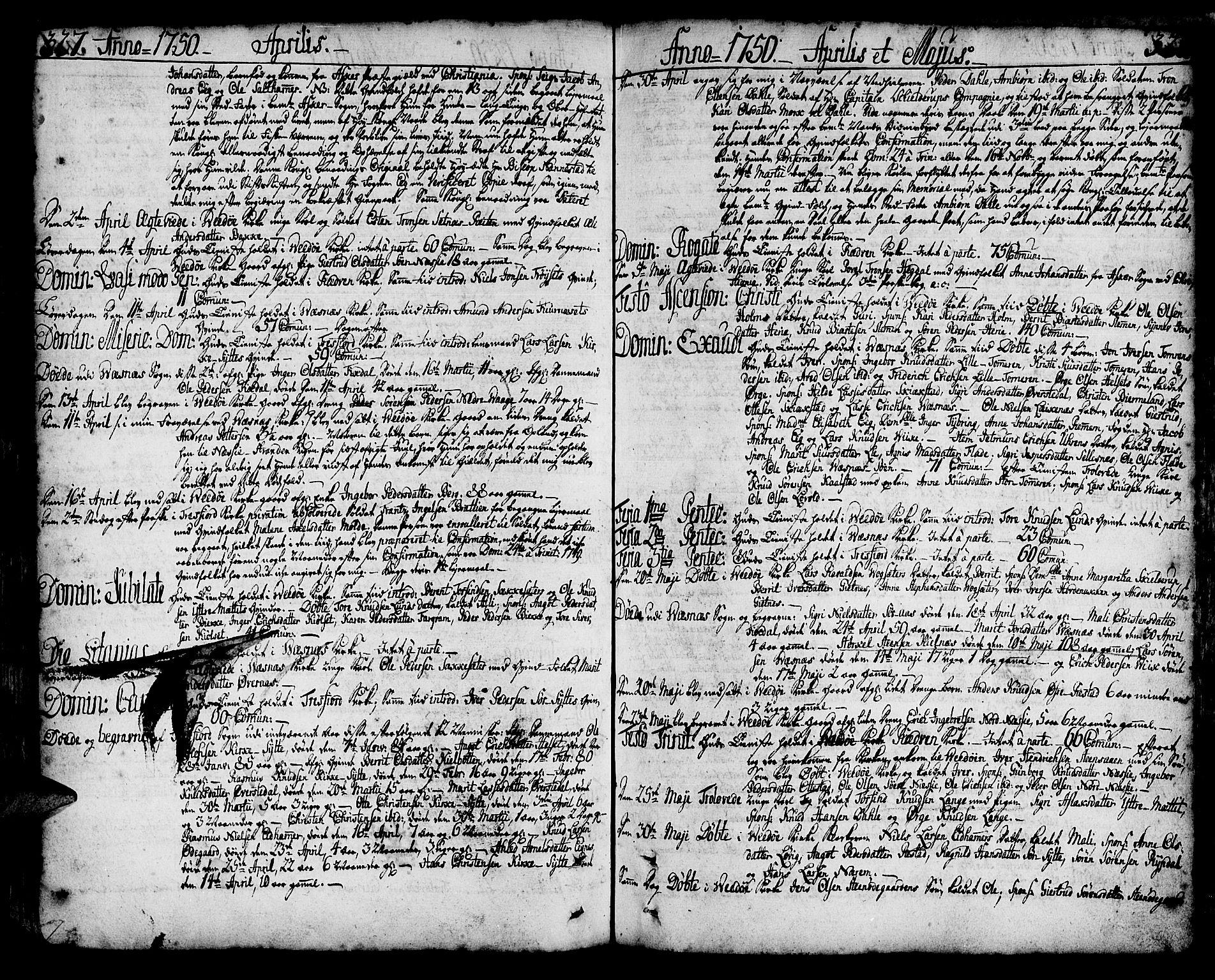 SAT, Ministerialprotokoller, klokkerbøker og fødselsregistre - Møre og Romsdal, 547/L0599: Ministerialbok nr. 547A01, 1721-1764, s. 327-328
