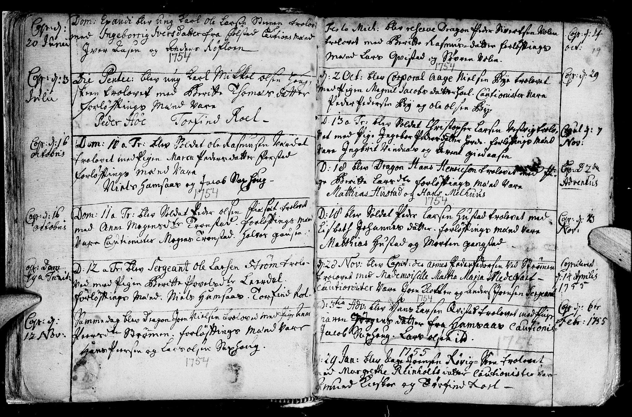 SAT, Ministerialprotokoller, klokkerbøker og fødselsregistre - Nord-Trøndelag, 730/L0272: Ministerialbok nr. 730A01, 1733-1764, s. 19