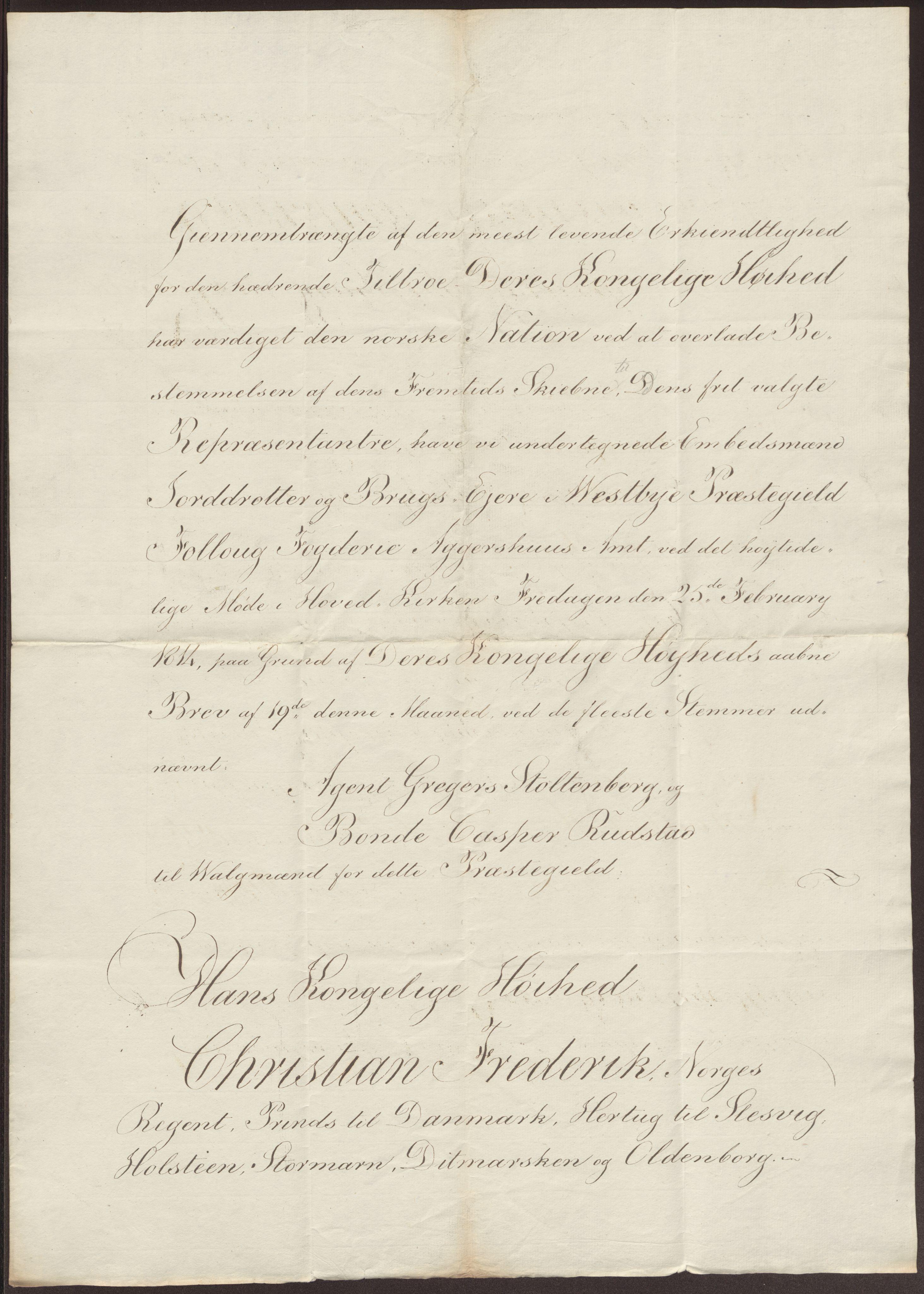 RA, Statsrådssekretariatet, D/Db/L0007: Fullmakter for Eidsvollsrepresentantene i 1814. , 1814, s. 210