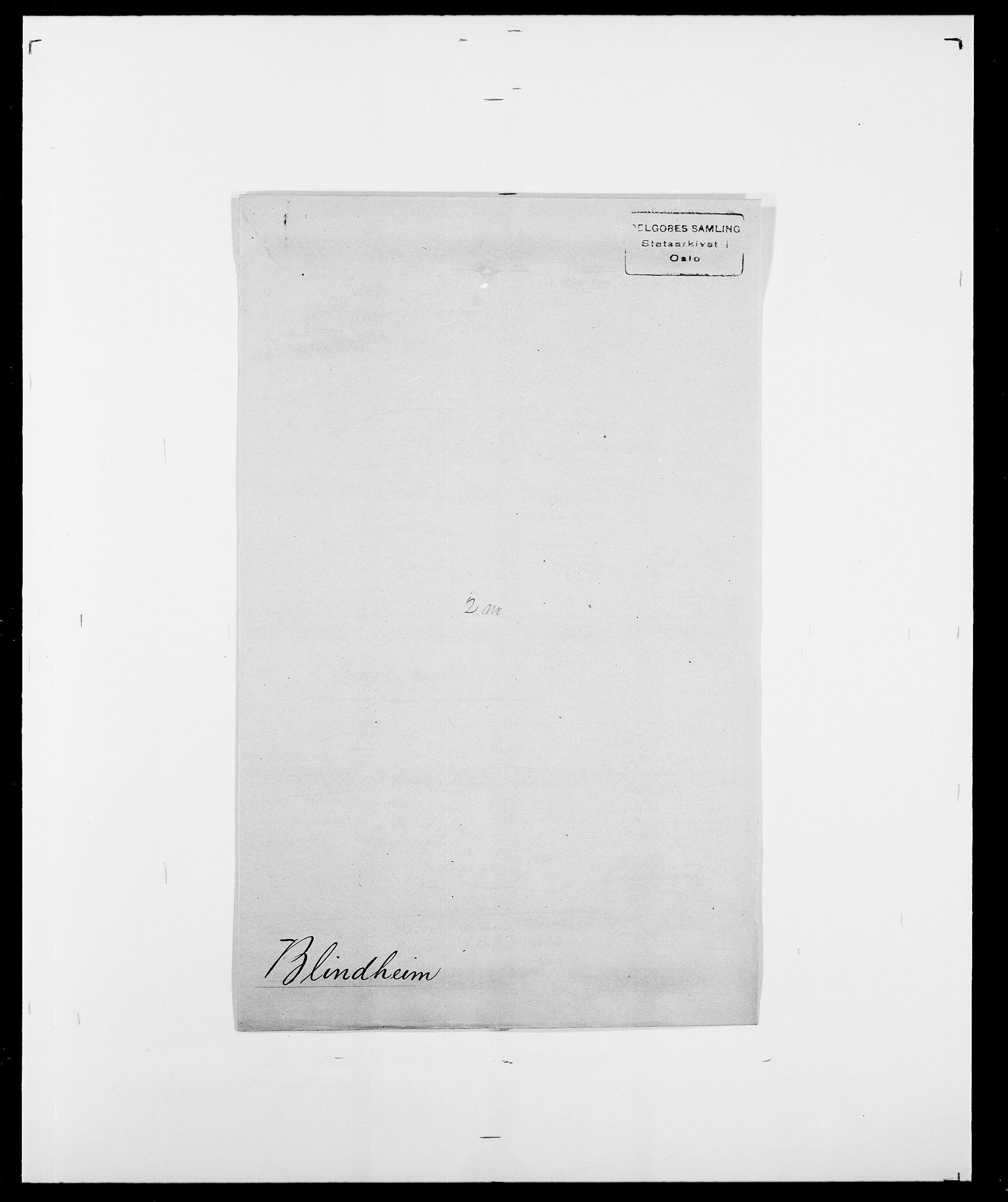 SAO, Delgobe, Charles Antoine - samling, D/Da/L0004: Bergendahl - Blære, s. 613