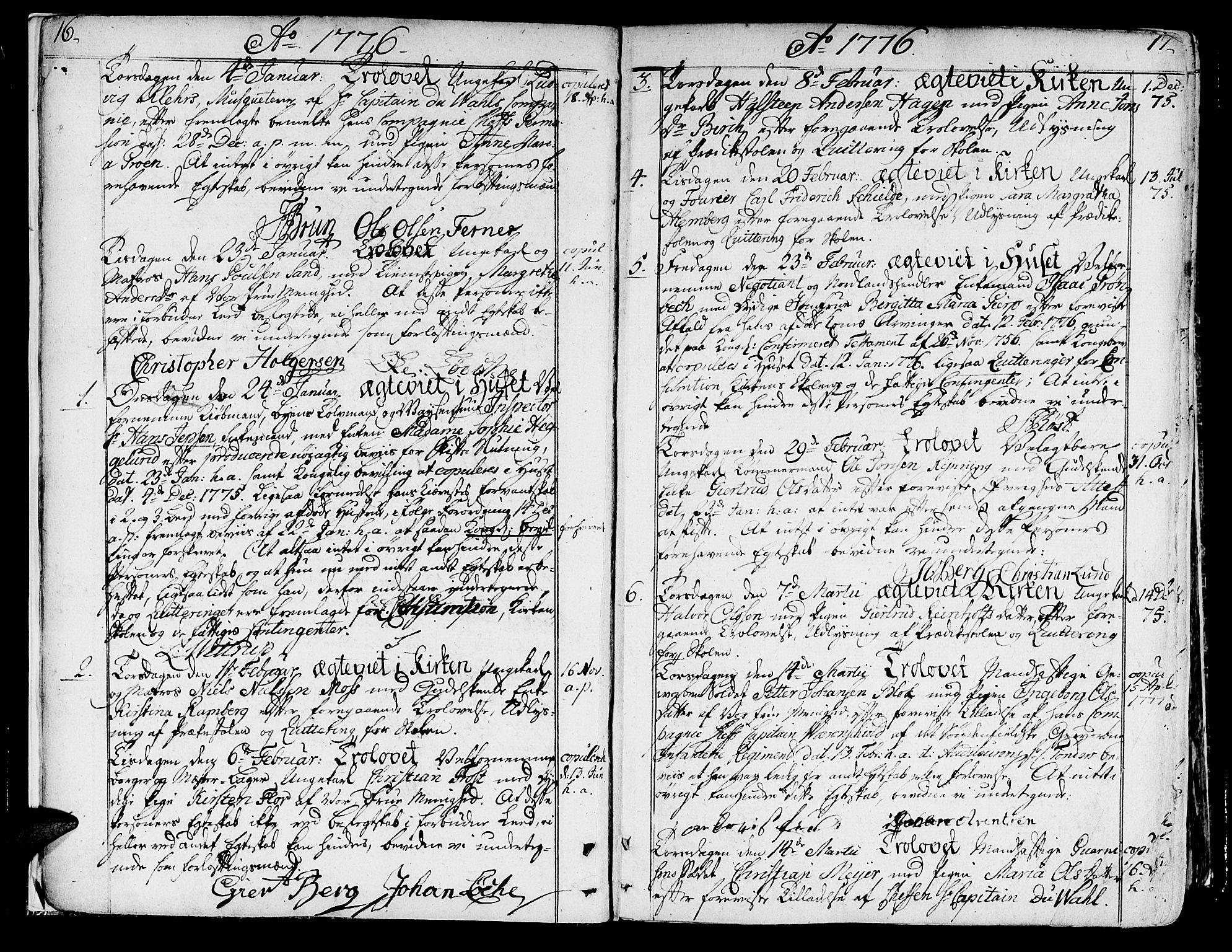 SAT, Ministerialprotokoller, klokkerbøker og fødselsregistre - Sør-Trøndelag, 602/L0105: Ministerialbok nr. 602A03, 1774-1814, s. 16-17