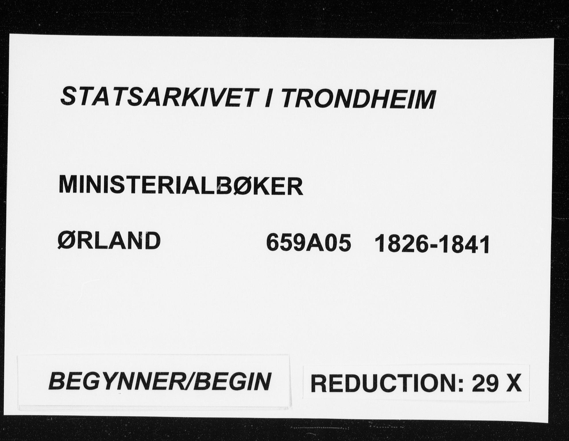 SAT, Ministerialprotokoller, klokkerbøker og fødselsregistre - Sør-Trøndelag, 659/L0735: Ministerialbok nr. 659A05, 1826-1841