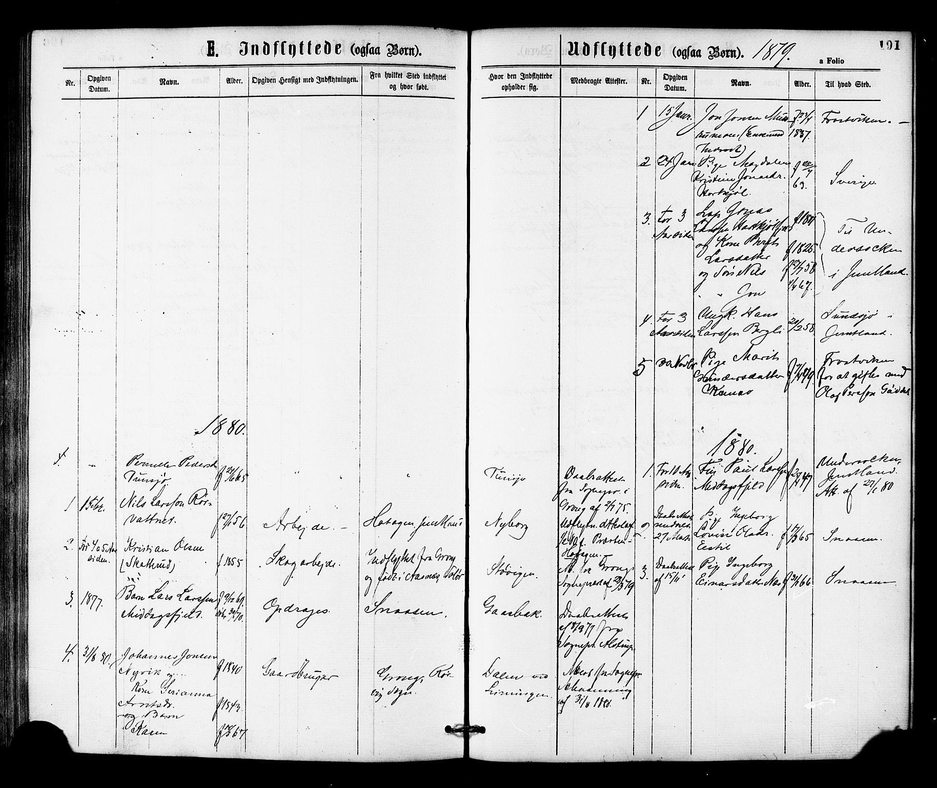 SAT, Ministerialprotokoller, klokkerbøker og fødselsregistre - Nord-Trøndelag, 755/L0493: Ministerialbok nr. 755A02, 1865-1881, s. 191