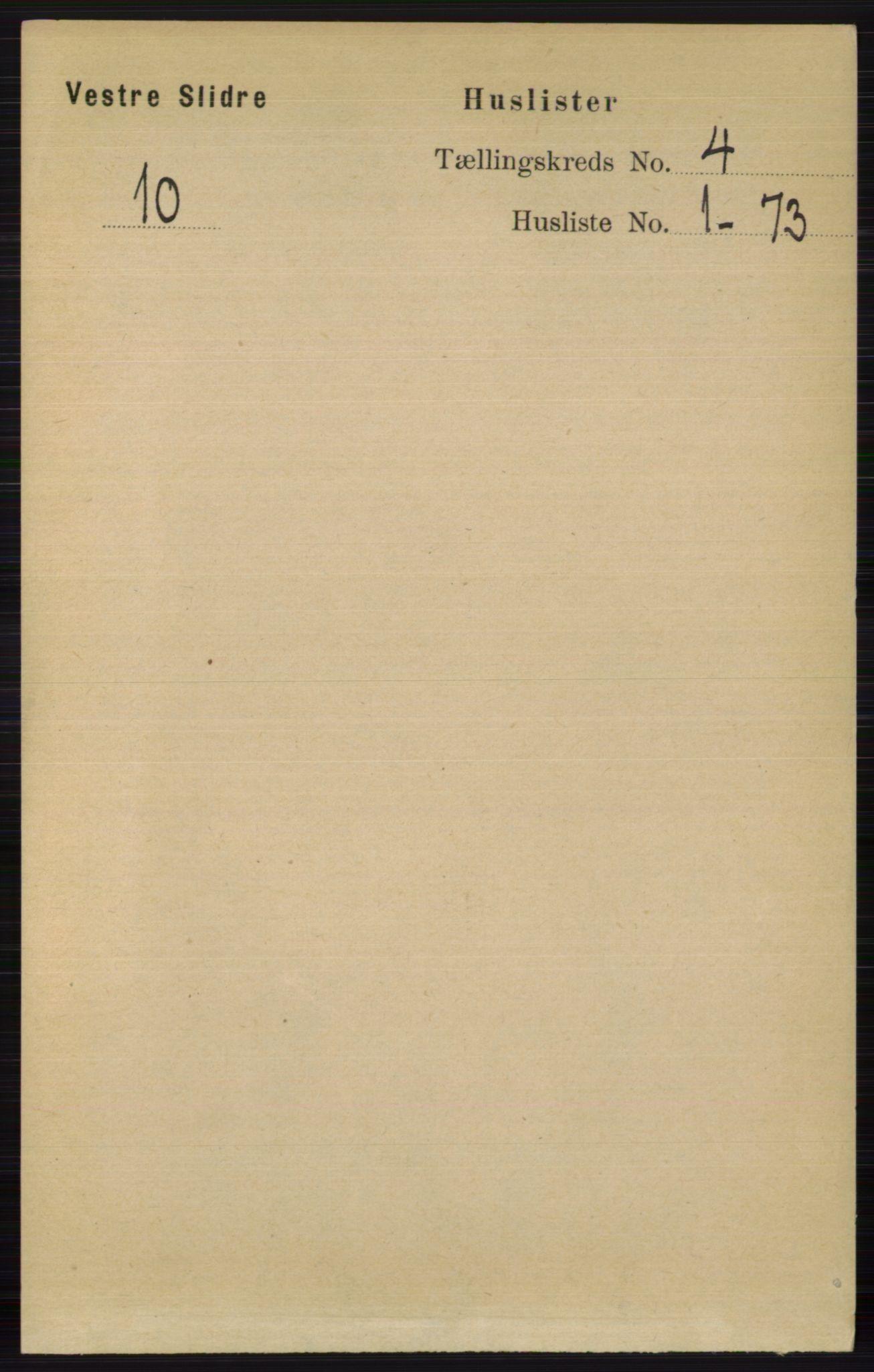 RA, Folketelling 1891 for 0543 Vestre Slidre herred, 1891, s. 1177