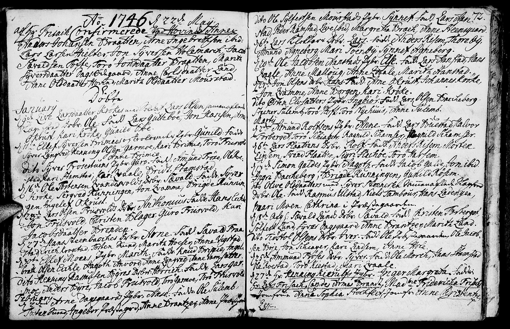 SAH, Lom prestekontor, K/L0001: Ministerialbok nr. 1, 1733-1748, s. 72