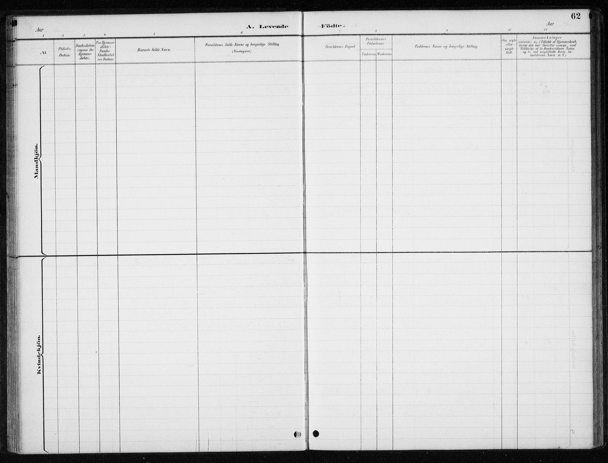 SAT, Ministerialprotokoller, klokkerbøker og fødselsregistre - Nord-Trøndelag, 710/L0096: Klokkerbok nr. 710C01, 1892-1925, s. 62