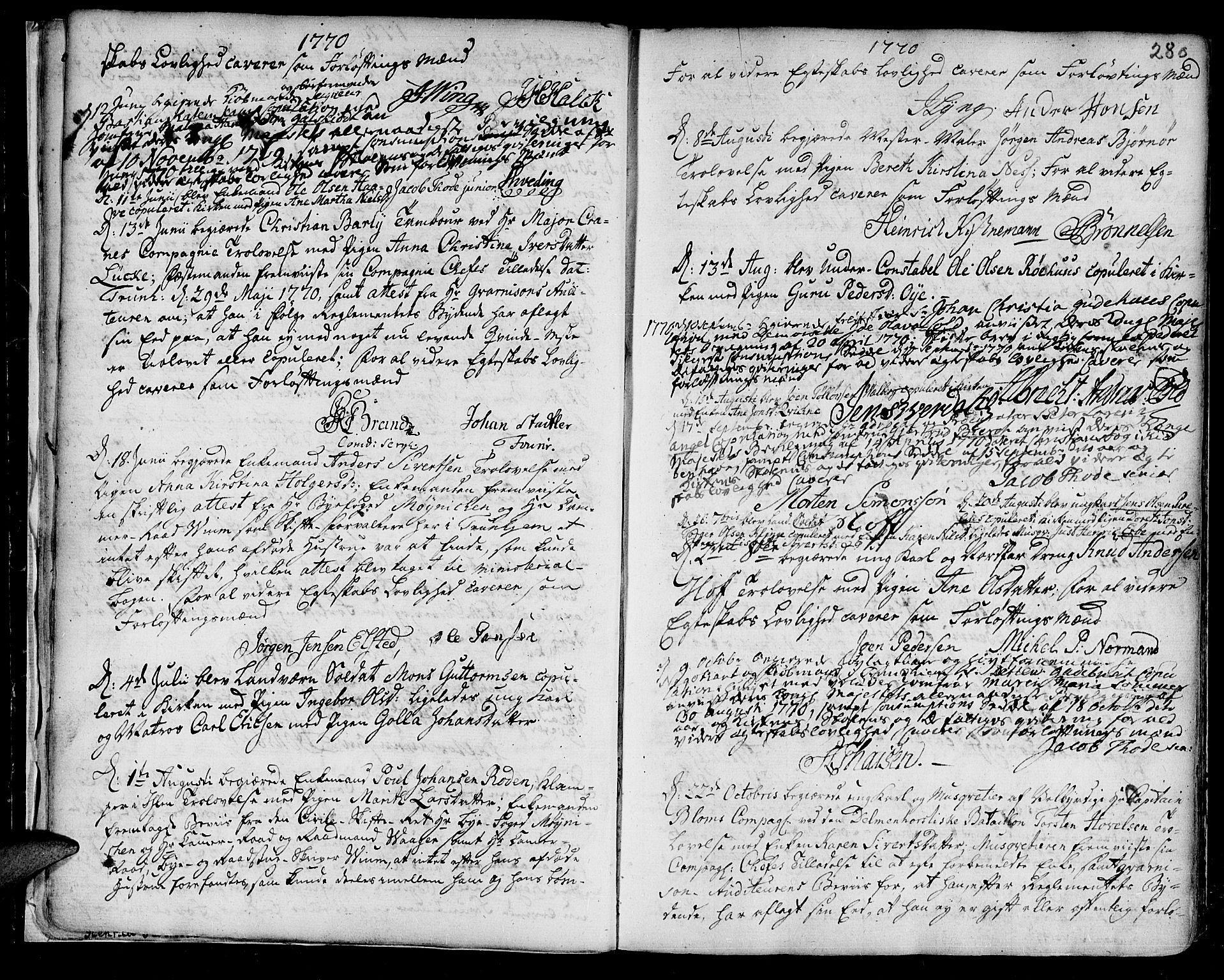 SAT, Ministerialprotokoller, klokkerbøker og fødselsregistre - Sør-Trøndelag, 601/L0038: Ministerialbok nr. 601A06, 1766-1877, s. 280