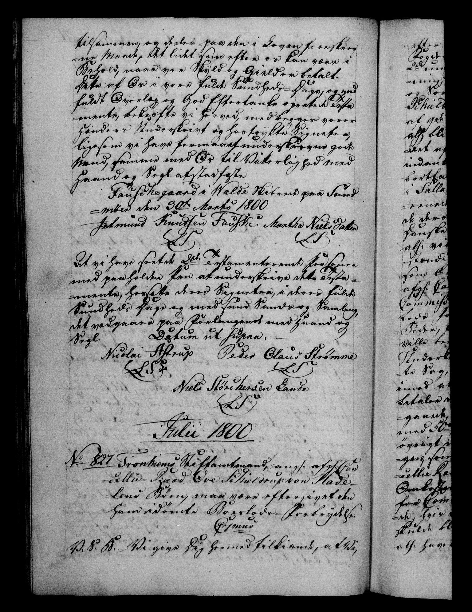 RA, Danske Kanselli 1800-1814, H/Hf/Hfb/Hfba/L0001: Registranter, 1800-1801, s. 271b