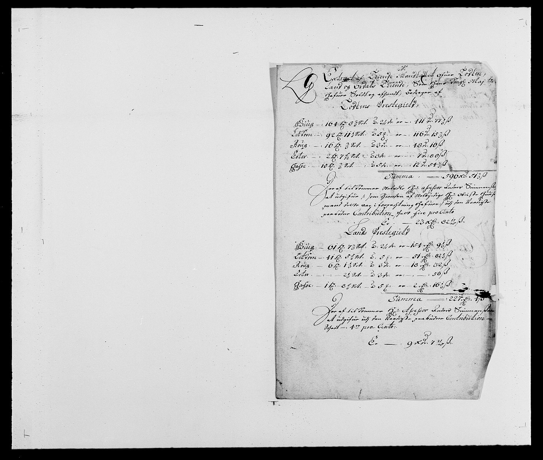 RA, Rentekammeret inntil 1814, Reviderte regnskaper, Fogderegnskap, R18/L1284: Fogderegnskap Hadeland, Toten og Valdres, 1685, s. 184