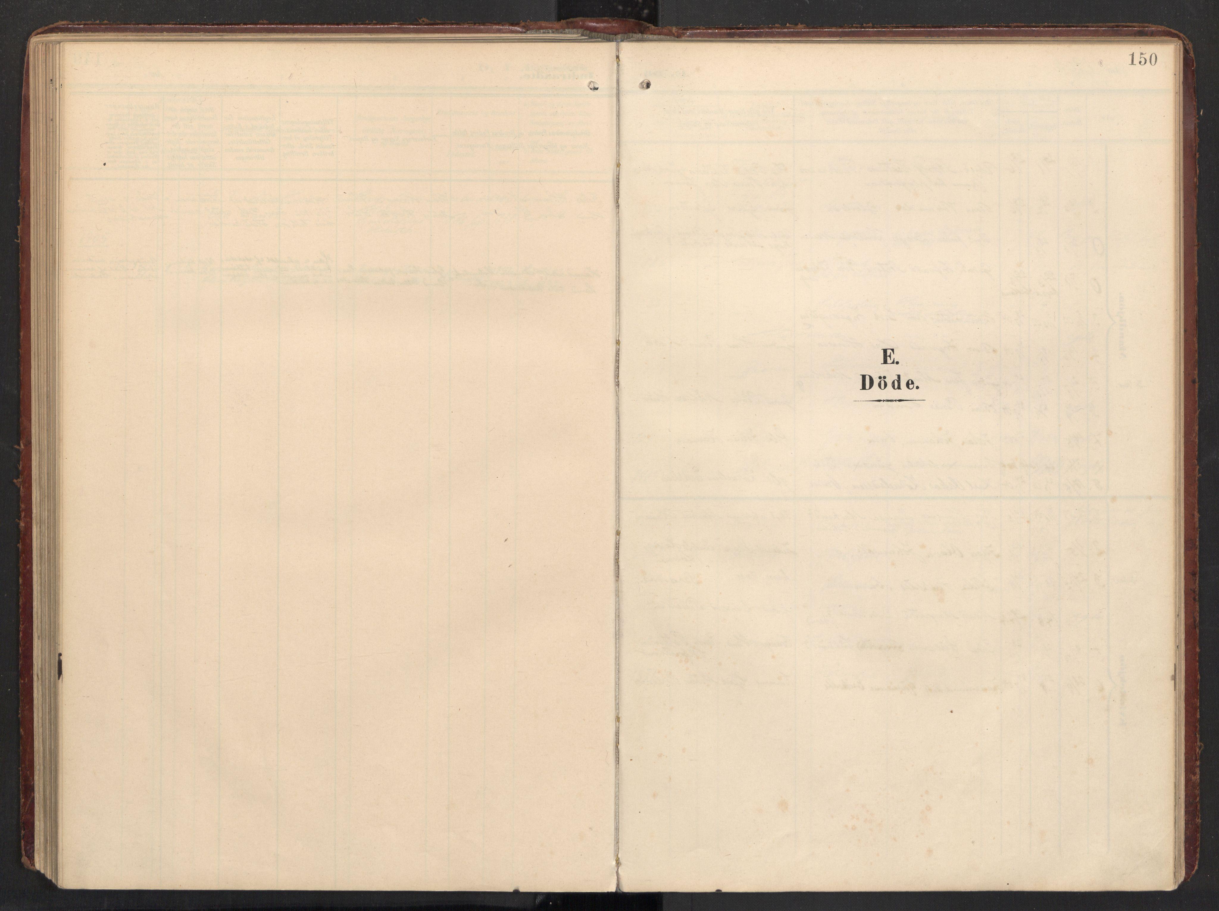 SAT, Ministerialprotokoller, klokkerbøker og fødselsregistre - Nordland, 890/L1287: Ministerialbok nr. 890A02, 1903-1915, s. 150