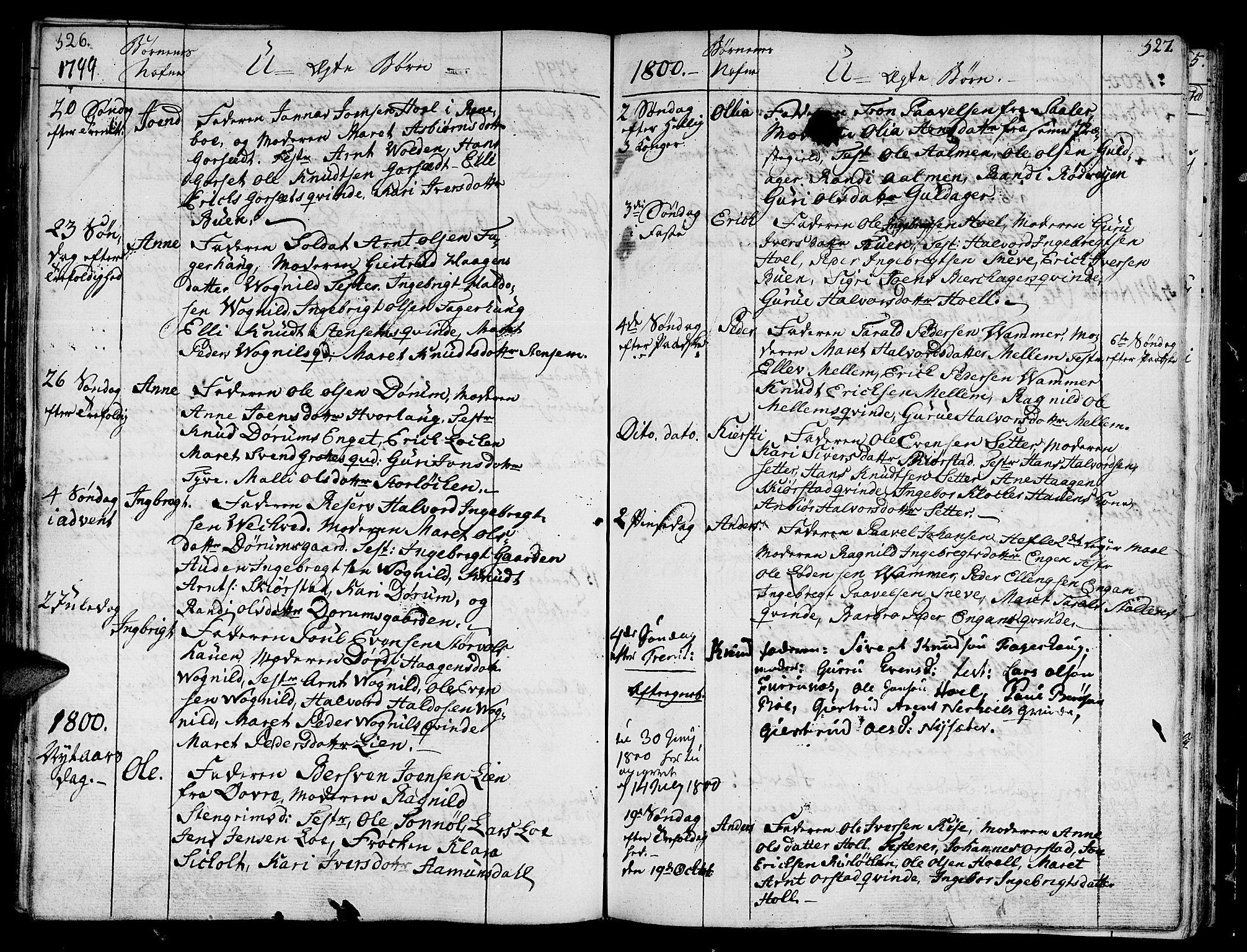SAT, Ministerialprotokoller, klokkerbøker og fødselsregistre - Sør-Trøndelag, 678/L0893: Ministerialbok nr. 678A03, 1792-1805, s. 526-527