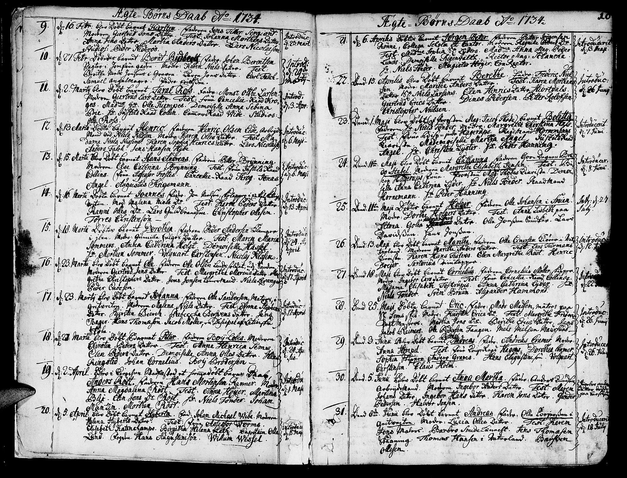 SAT, Ministerialprotokoller, klokkerbøker og fødselsregistre - Sør-Trøndelag, 602/L0103: Ministerialbok nr. 602A01, 1732-1774, s. 10