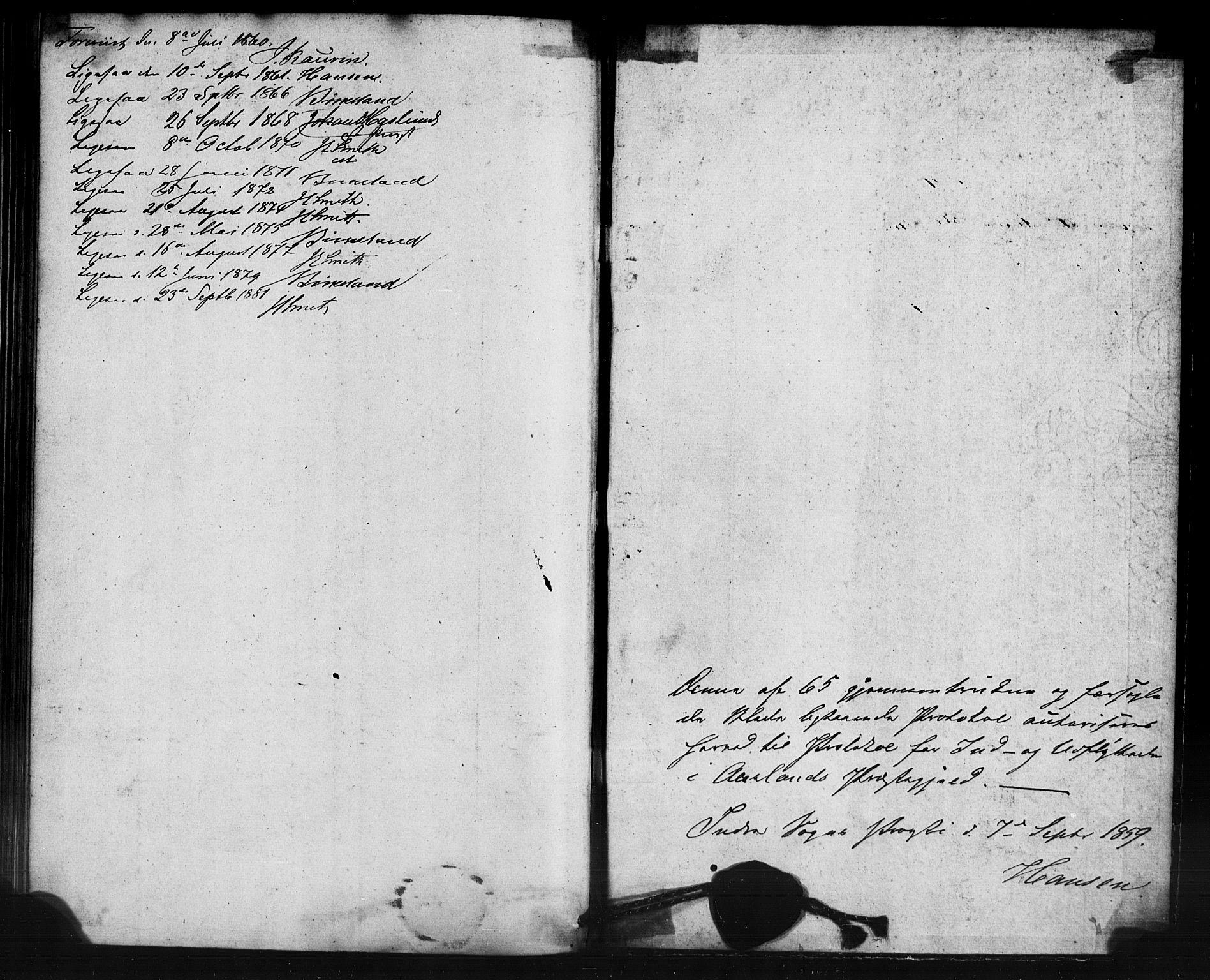 SAB, Aurland Sokneprestembete*, Ministerialbok nr. A 12, 1858-1879