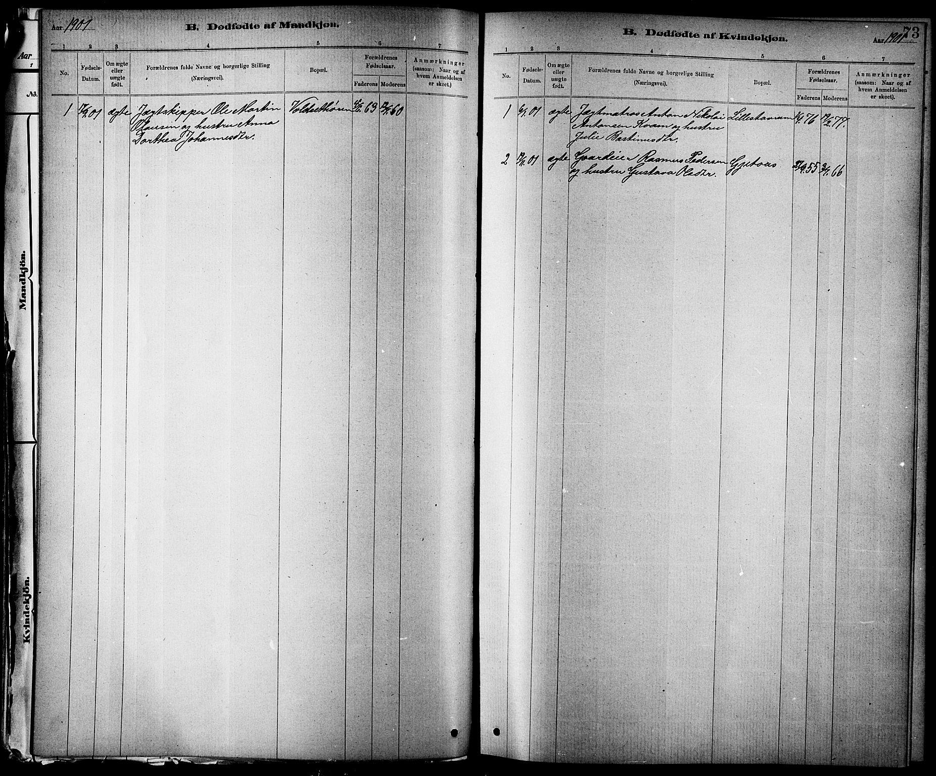 SAT, Ministerialprotokoller, klokkerbøker og fødselsregistre - Nord-Trøndelag, 744/L0423: Klokkerbok nr. 744C02, 1886-1905, s. 73