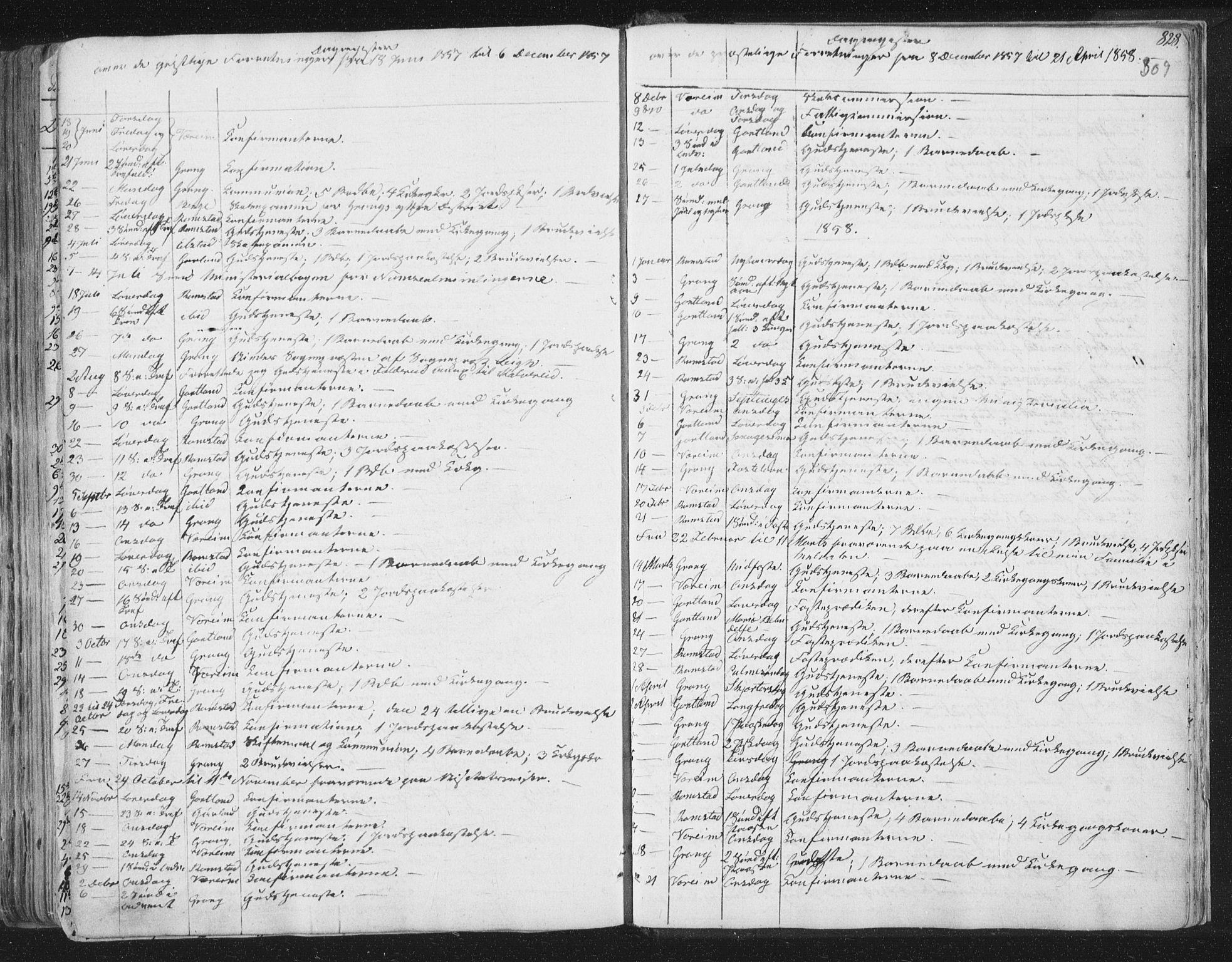 SAT, Ministerialprotokoller, klokkerbøker og fødselsregistre - Nord-Trøndelag, 758/L0513: Ministerialbok nr. 758A02 /1, 1839-1868, s. 309