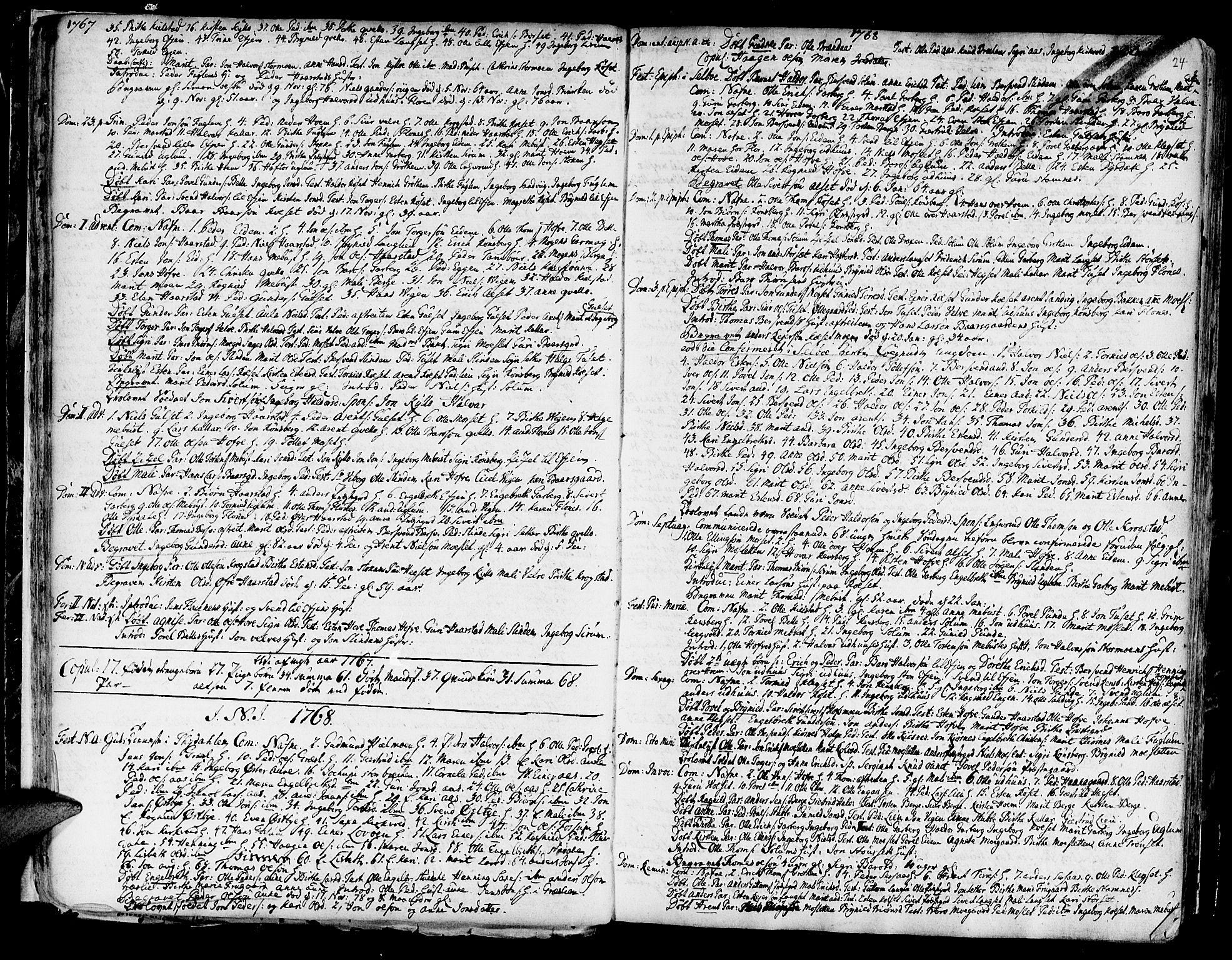 SAT, Ministerialprotokoller, klokkerbøker og fødselsregistre - Sør-Trøndelag, 695/L1138: Ministerialbok nr. 695A02 /1, 1757-1801, s. 24