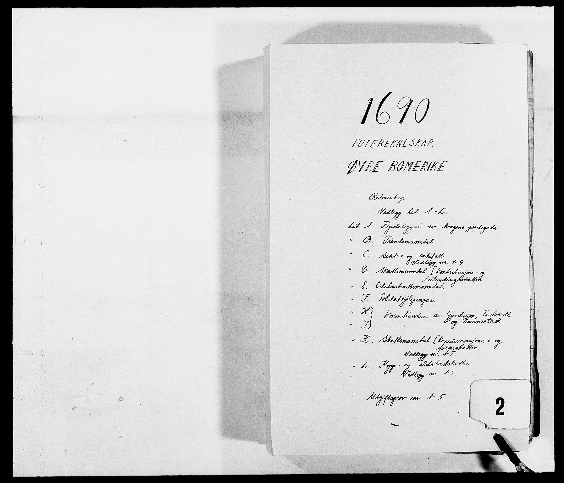 RA, Rentekammeret inntil 1814, Reviderte regnskaper, Fogderegnskap, R12/L0702: Fogderegnskap Øvre Romerike, 1690, s. 1