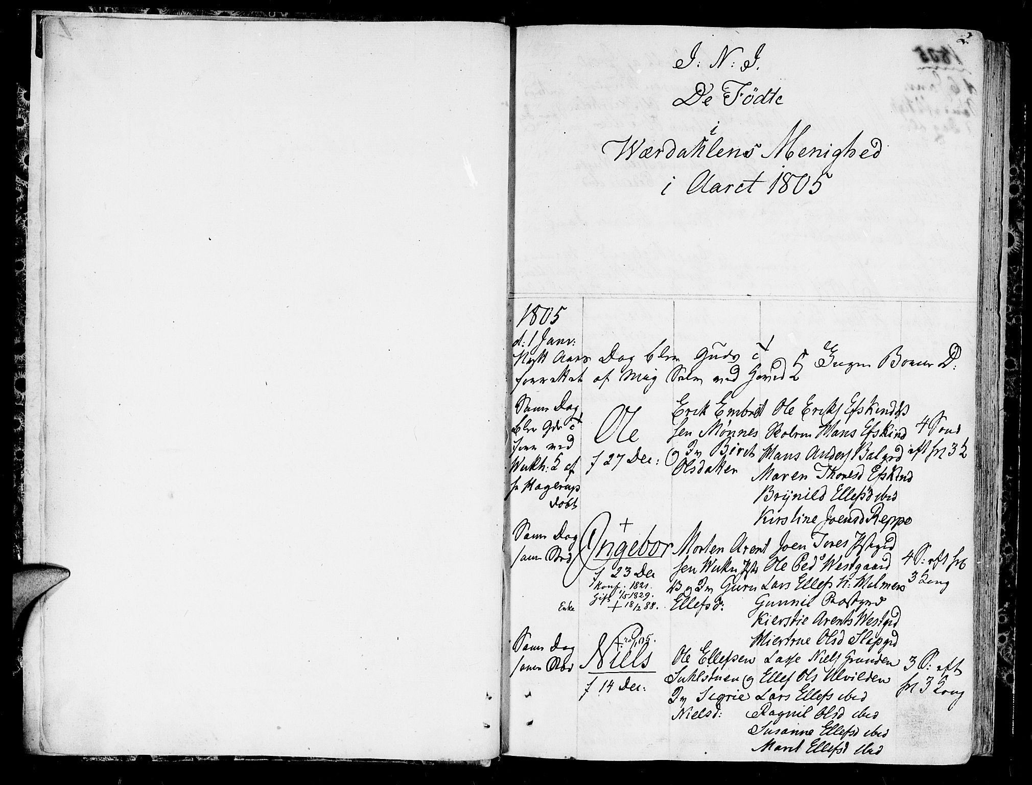 SAT, Ministerialprotokoller, klokkerbøker og fødselsregistre - Nord-Trøndelag, 723/L0233: Ministerialbok nr. 723A04, 1805-1816, s. 2