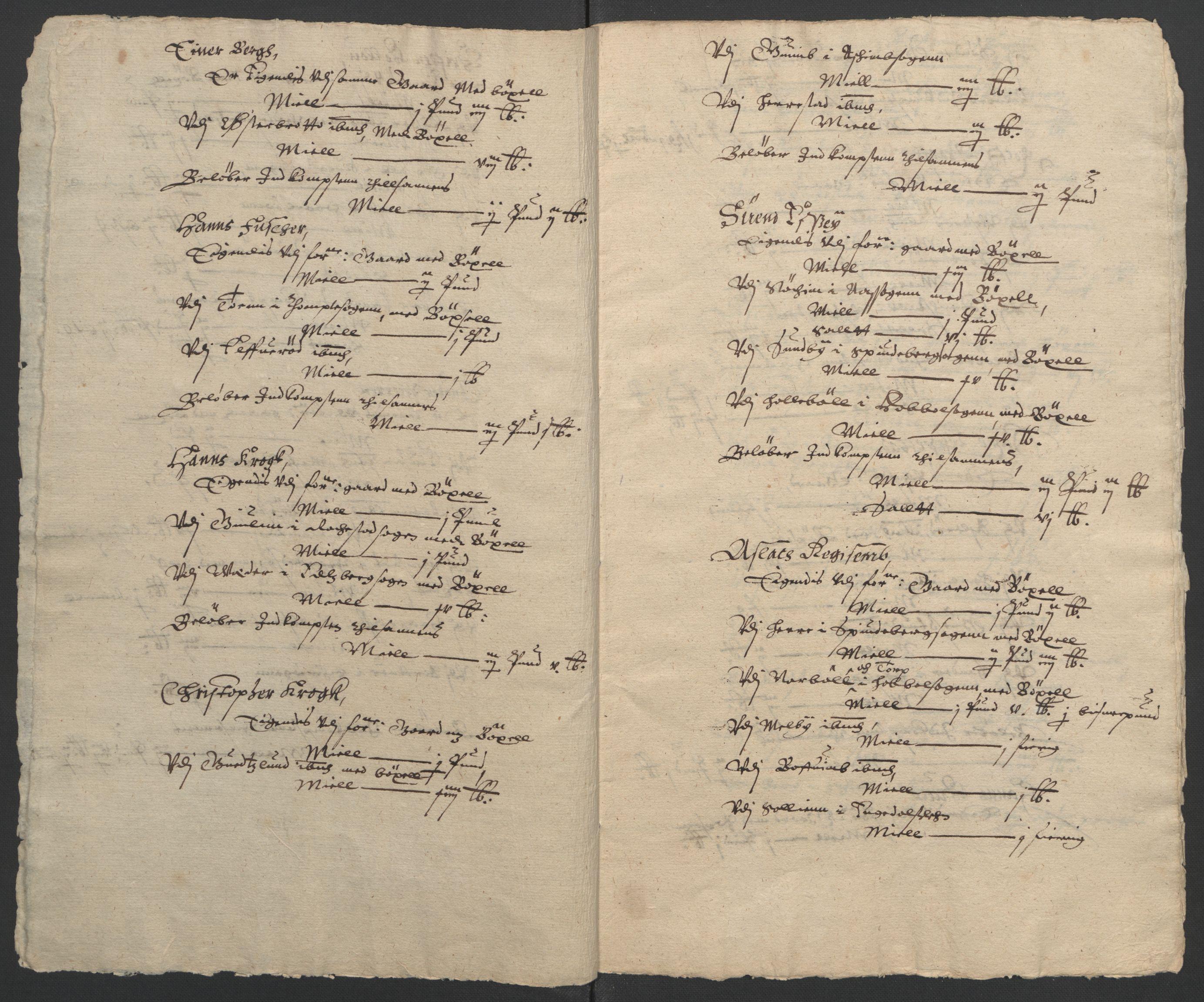 RA, Stattholderembetet 1572-1771, Ek/L0009: Jordebøker til utlikning av rosstjeneste 1624-1626:, 1624-1626, s. 24
