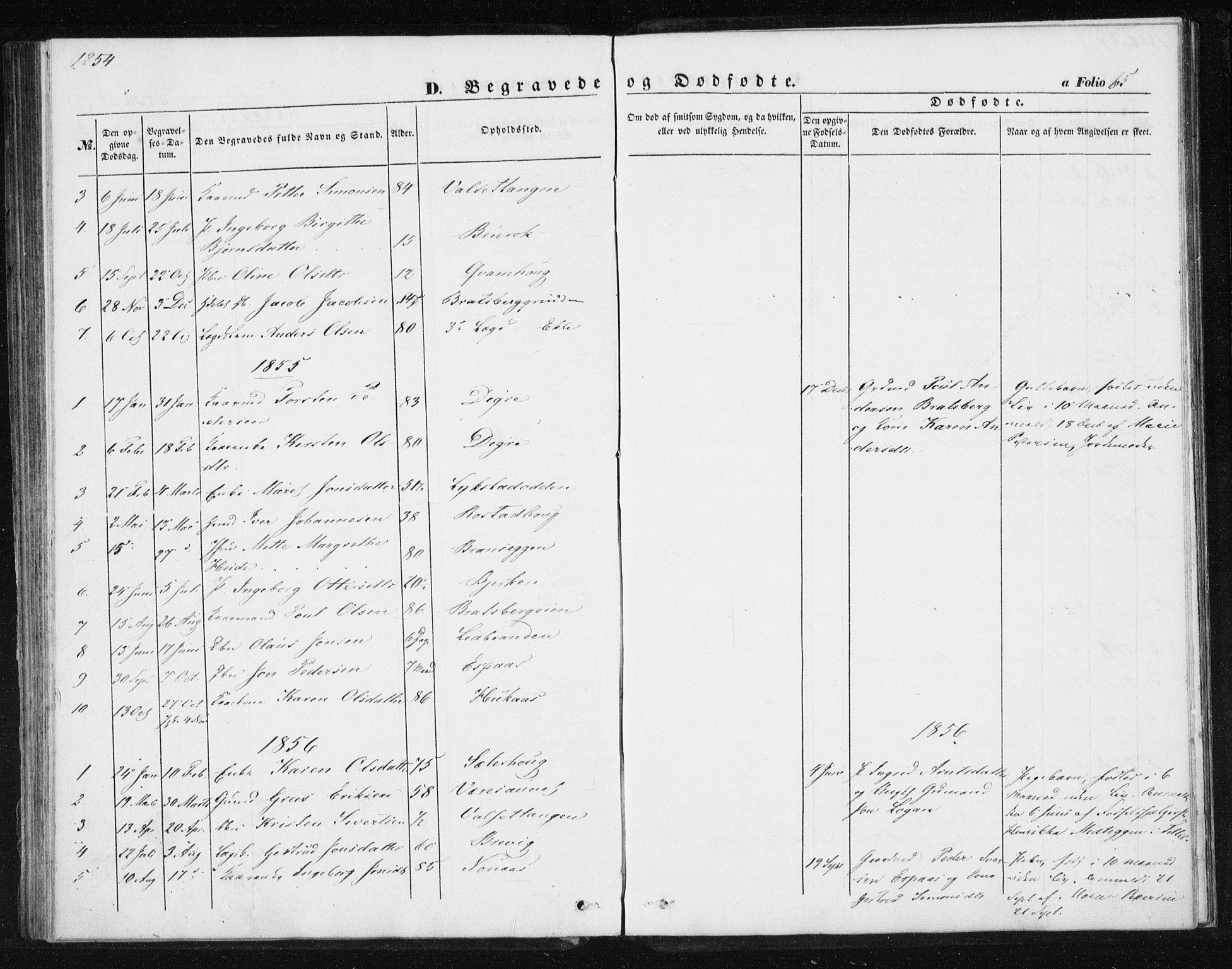SAT, Ministerialprotokoller, klokkerbøker og fødselsregistre - Sør-Trøndelag, 608/L0332: Ministerialbok nr. 608A01, 1848-1861, s. 65