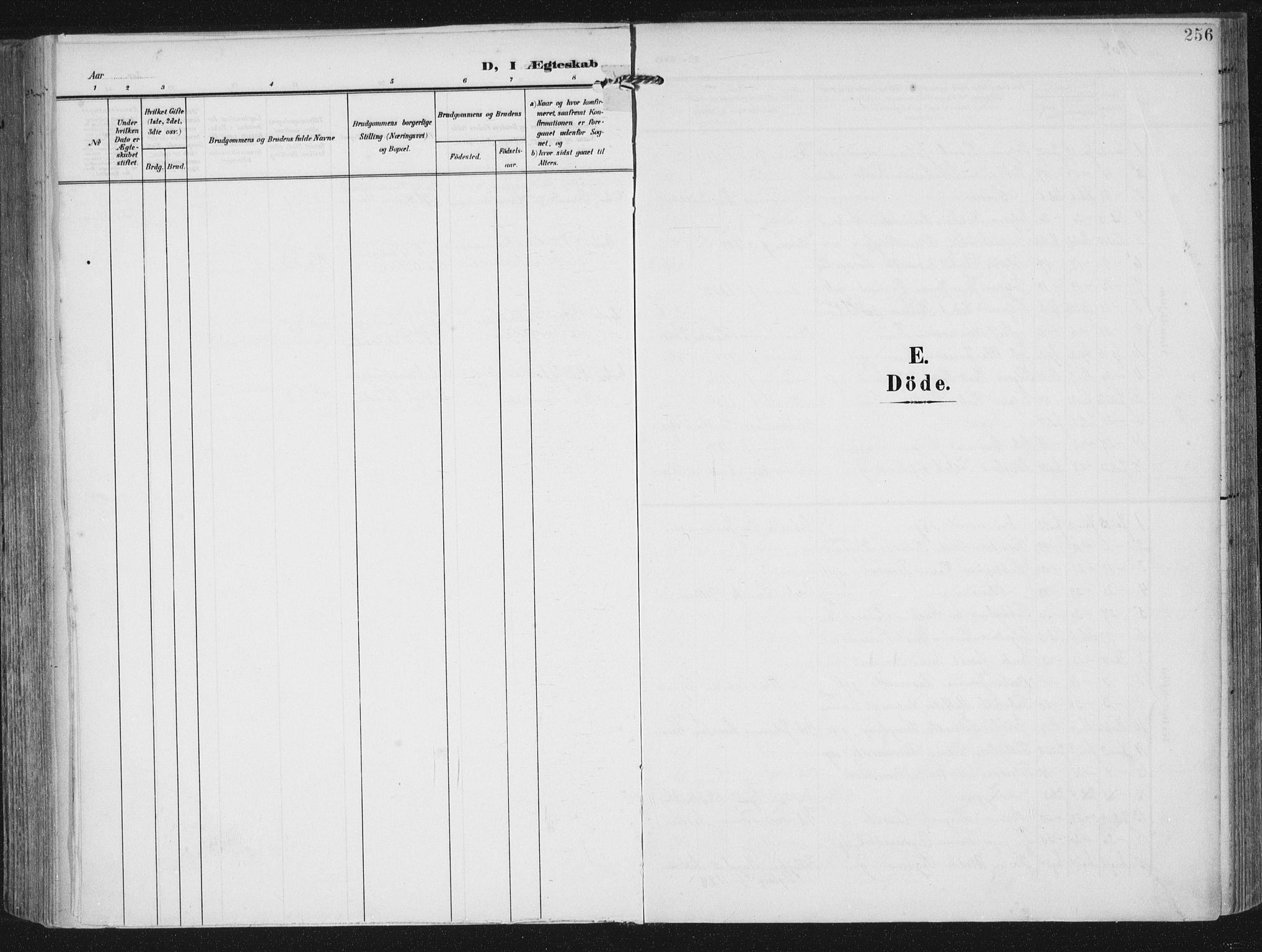 SAST, Lye sokneprestkontor, A/L0001: Ministerialbok nr. A 12, 1904-1920, s. 256